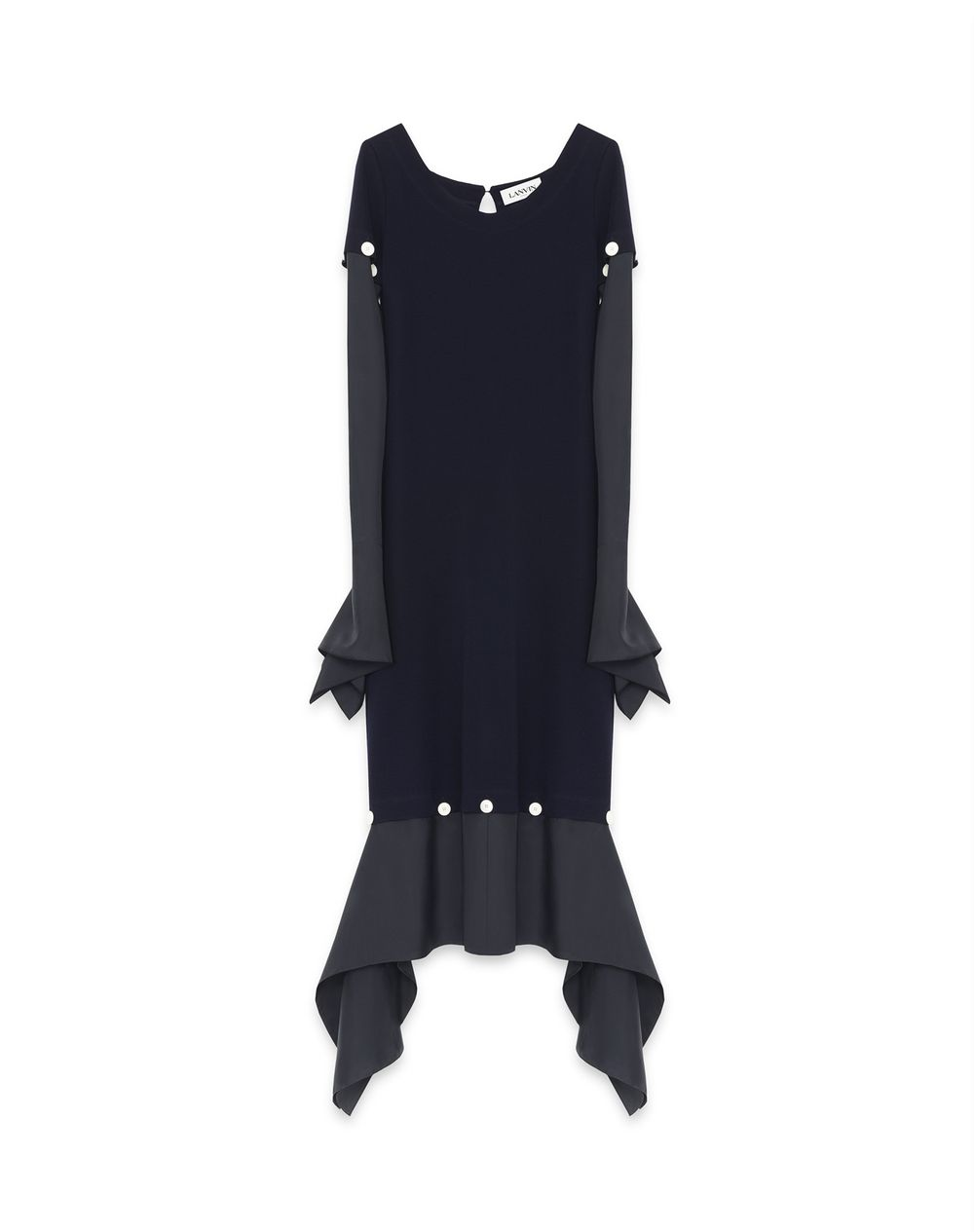 LONG SILK AND WOOL DRESS - Lanvin