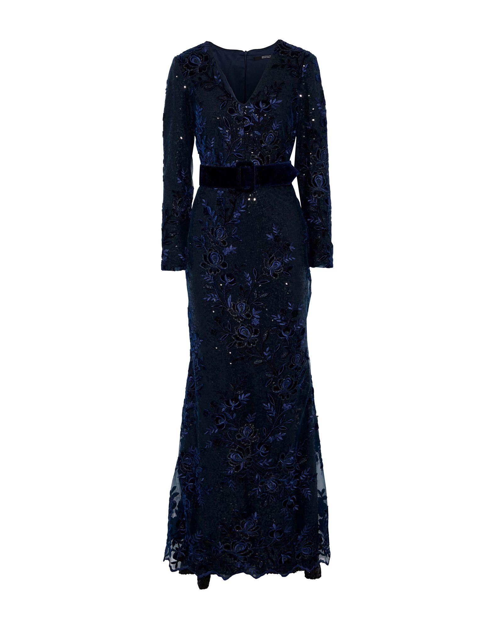 《セール開催中》BADGLEY MISCHKA レディース ロングワンピース&ドレス ダークブルー 10 ポリエステル 100% / ナイロン