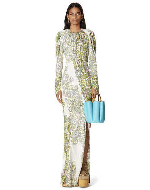 LONG PRINTED DRESS - Lanvin