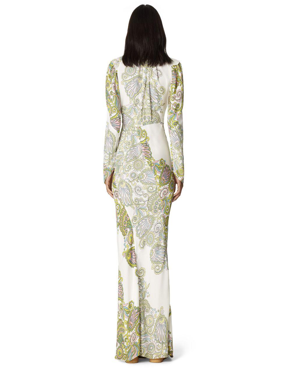 LONG FLOWER PRINT DRESS - Lanvin