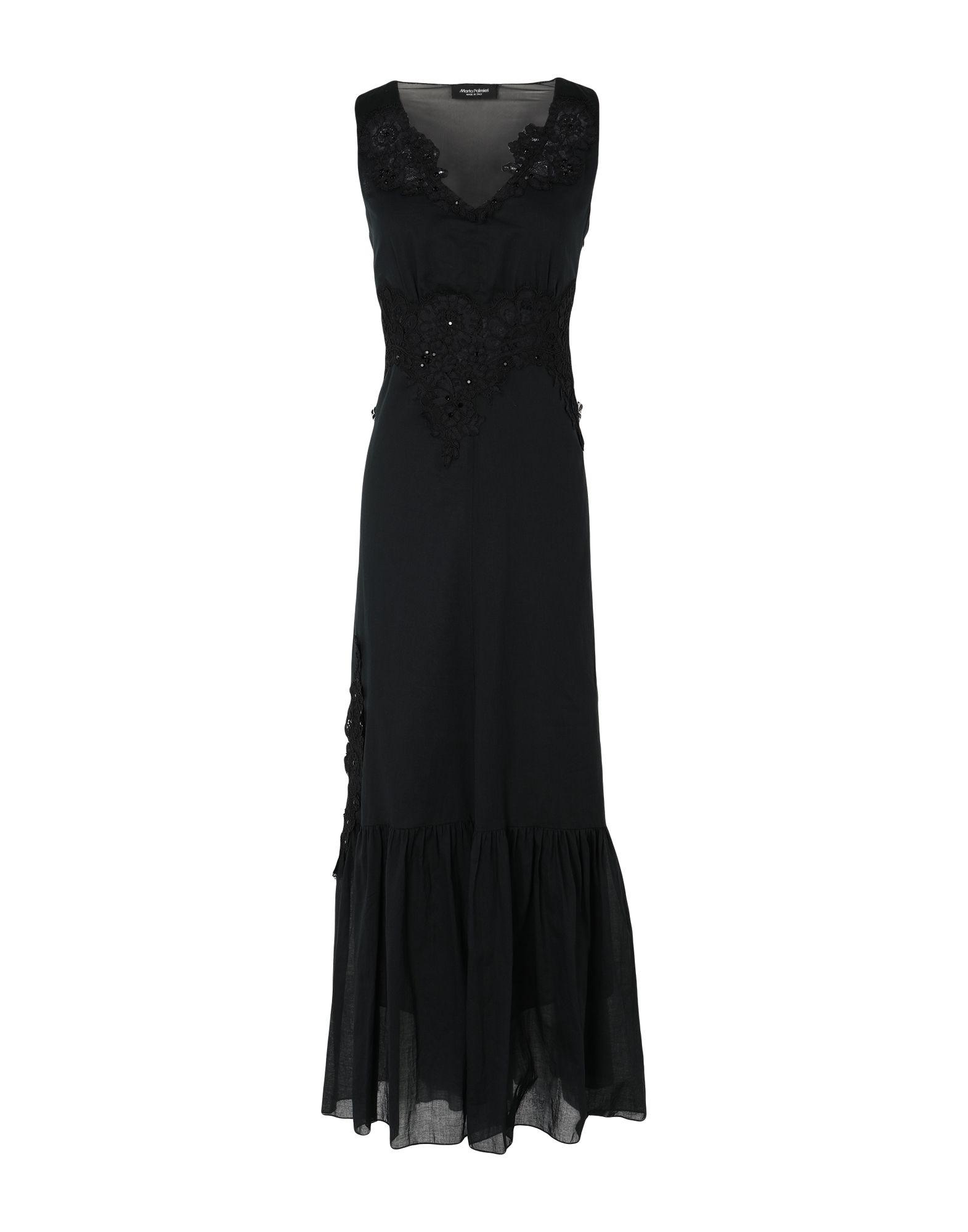 《セール開催中》MARTA PALMIERI レディース ロングワンピース&ドレス ブラック 44 コットン 100%