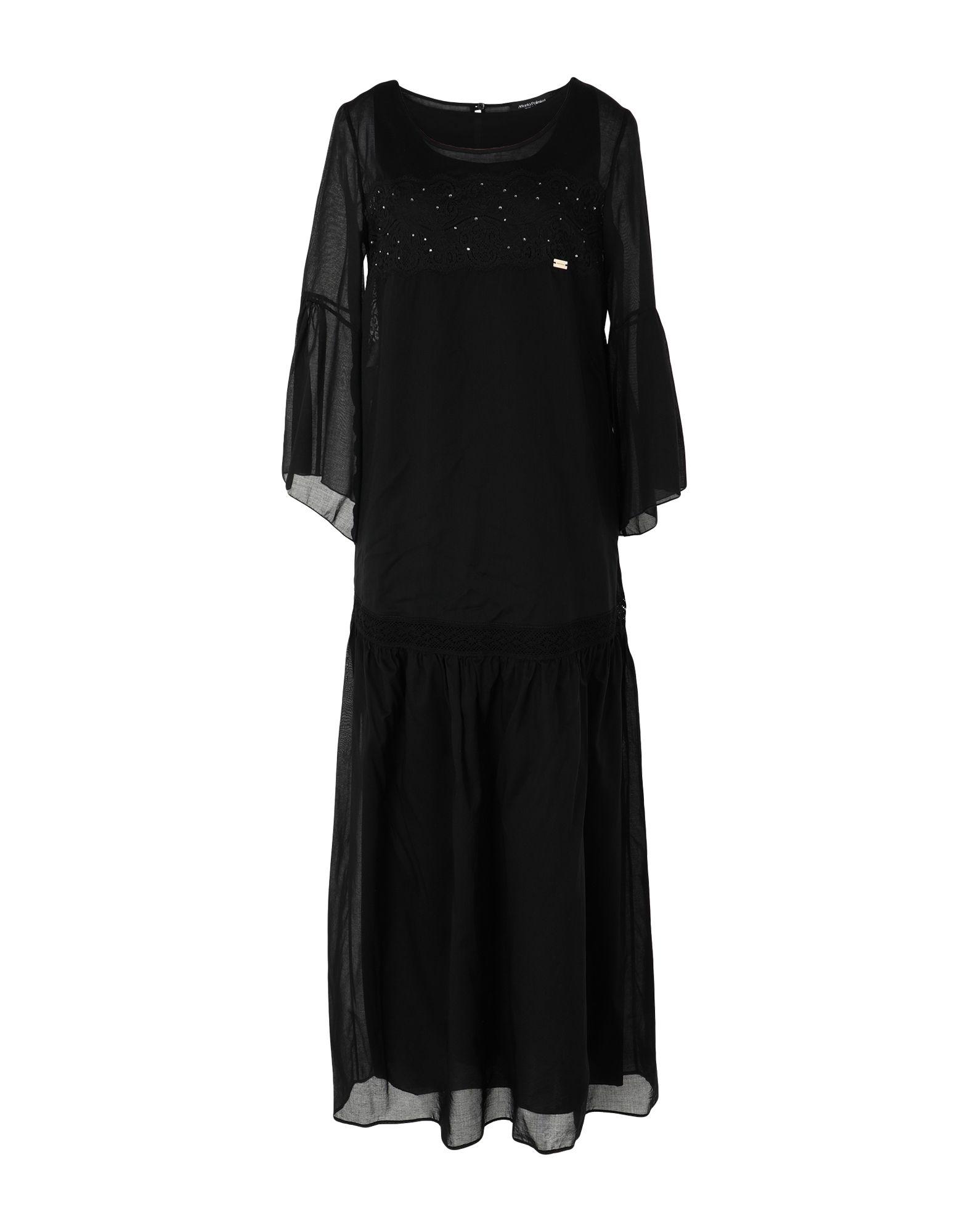 《セール開催中》MARTA PALMIERI レディース ロングワンピース&ドレス ブラック 40 コットン 100%