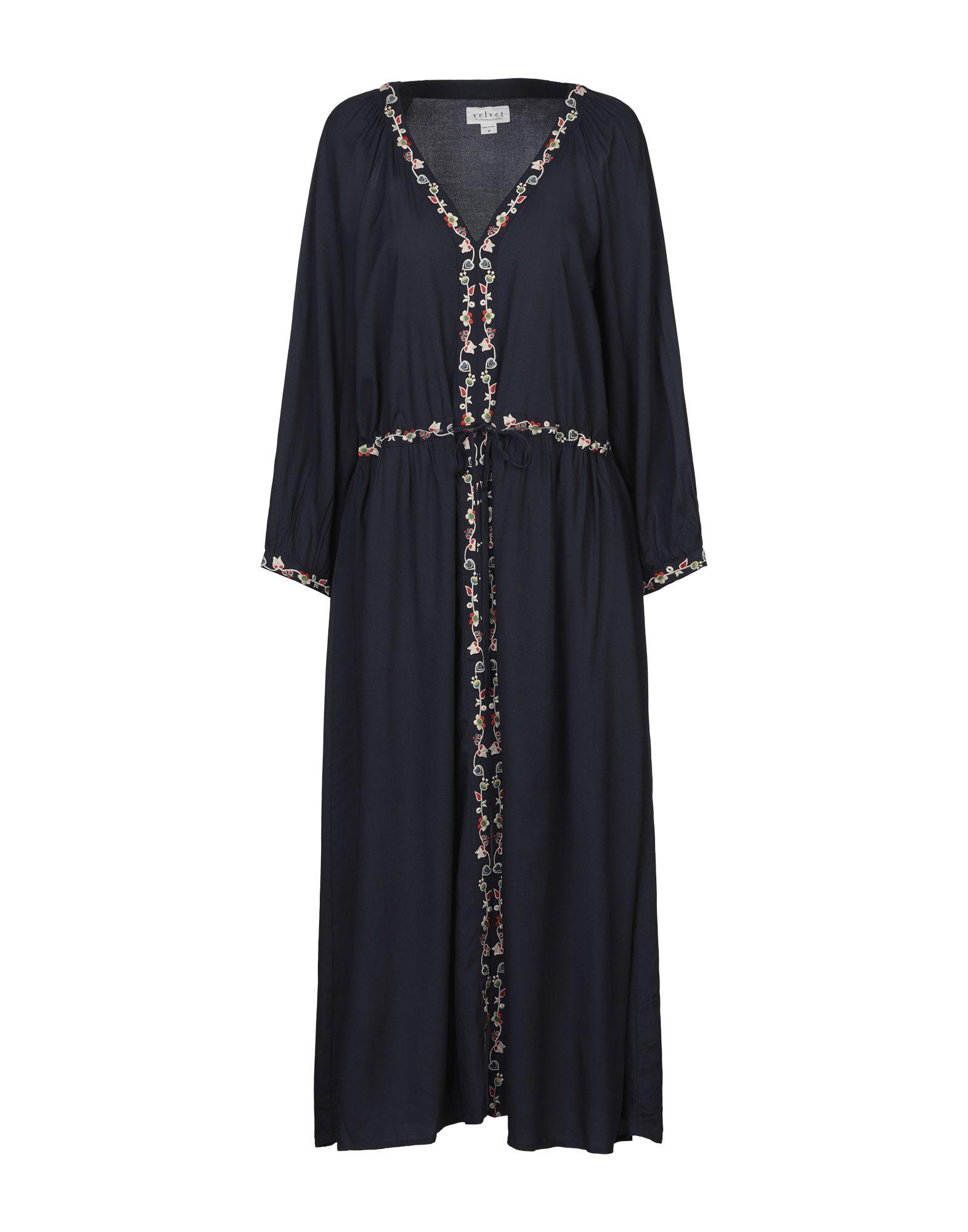 VELVET by GRAHAM & SPENCER Платье длиной 3/4 striped side velvet pants