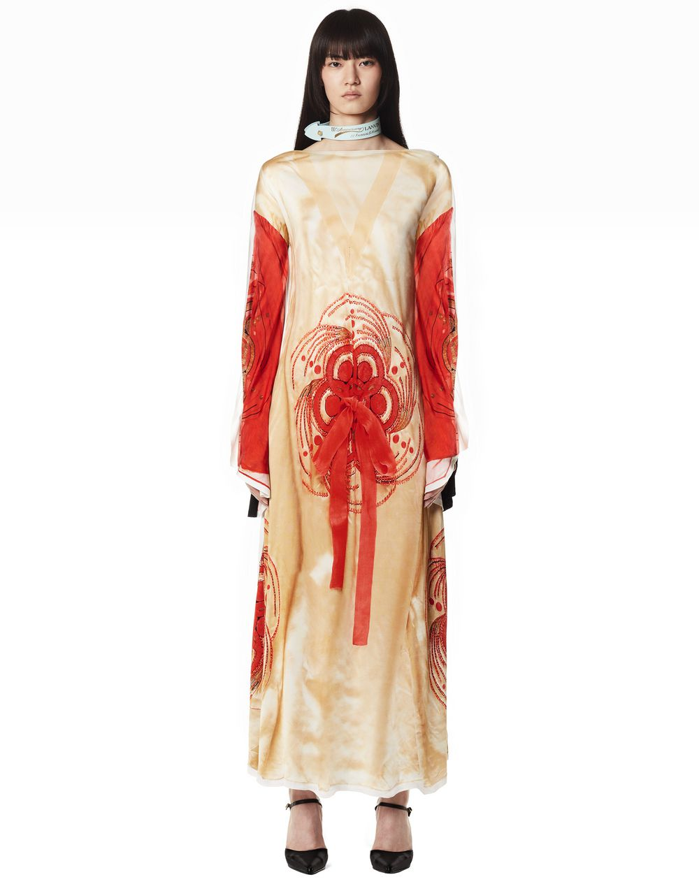 130 YEARS LONG IN LOVE PRINT DRESS - Lanvin