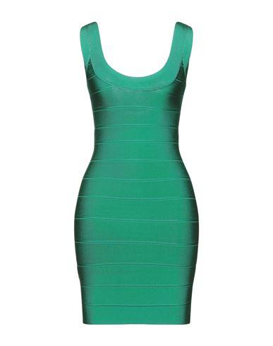 Короткое платье HERVÉ LÉGER. Цвет: зеленый