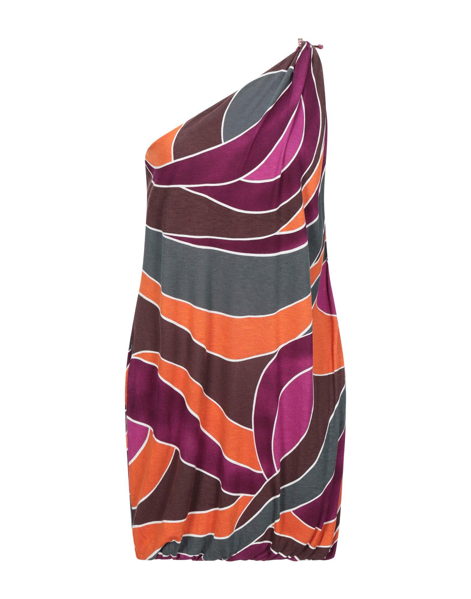 M MISSONI Короткое платье платье коктейльное из одно плечо