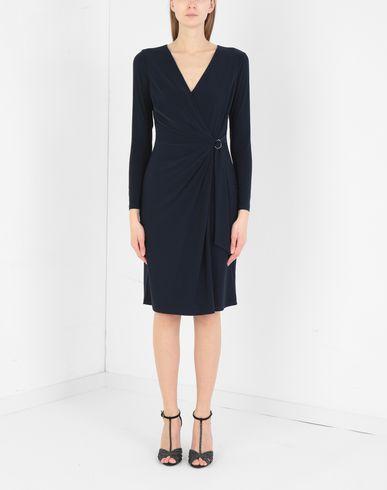 Фото 2 - Женское короткое платье LAUREN RALPH LAUREN темно-синего цвета