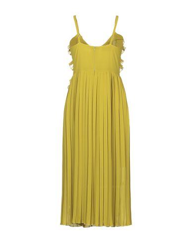 Фото 2 - Платье длиной 3/4 от JE SUIS LE FLEUR кислотно-зеленого цвета