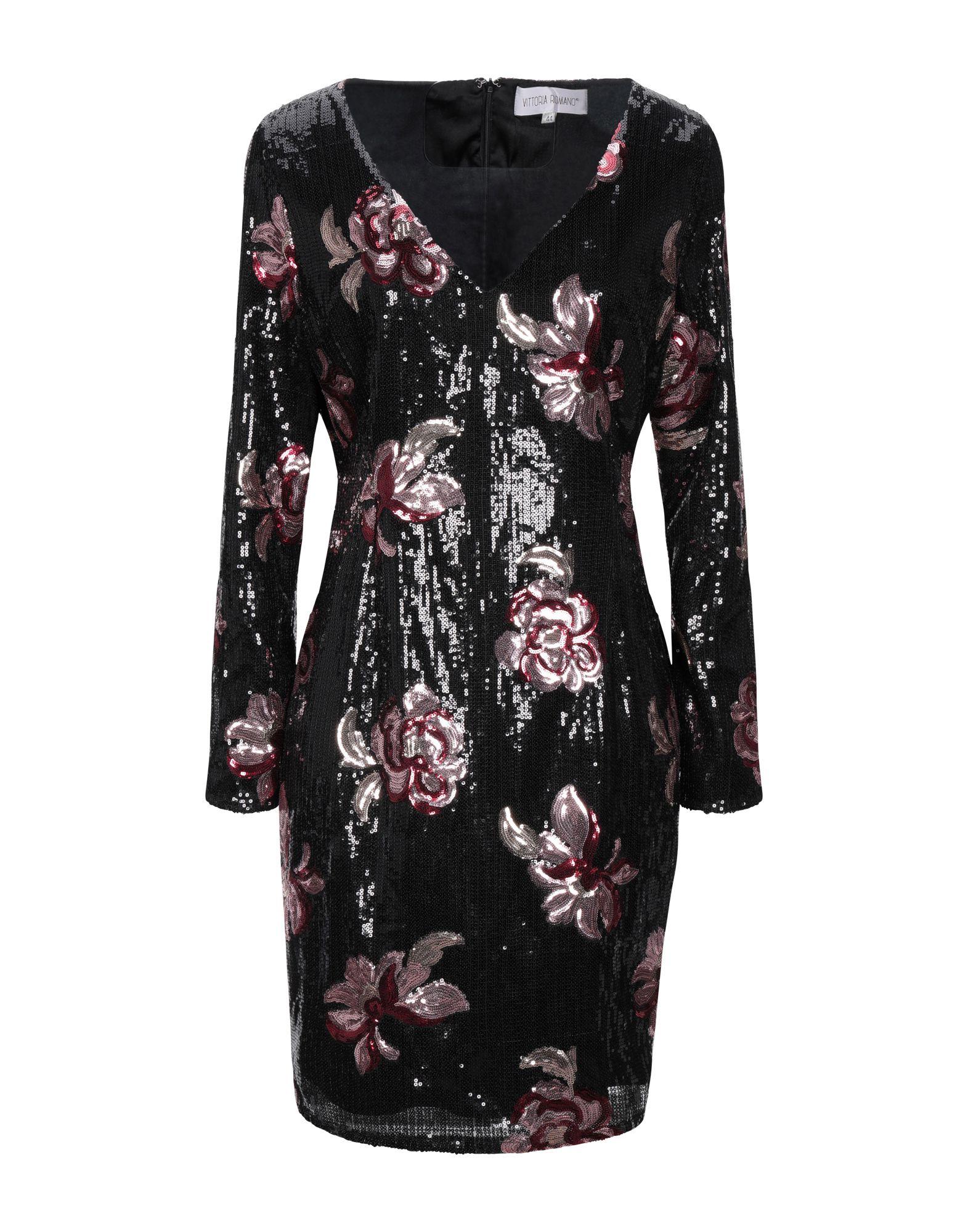 цена VITTORIA ROMANO Короткое платье онлайн в 2017 году