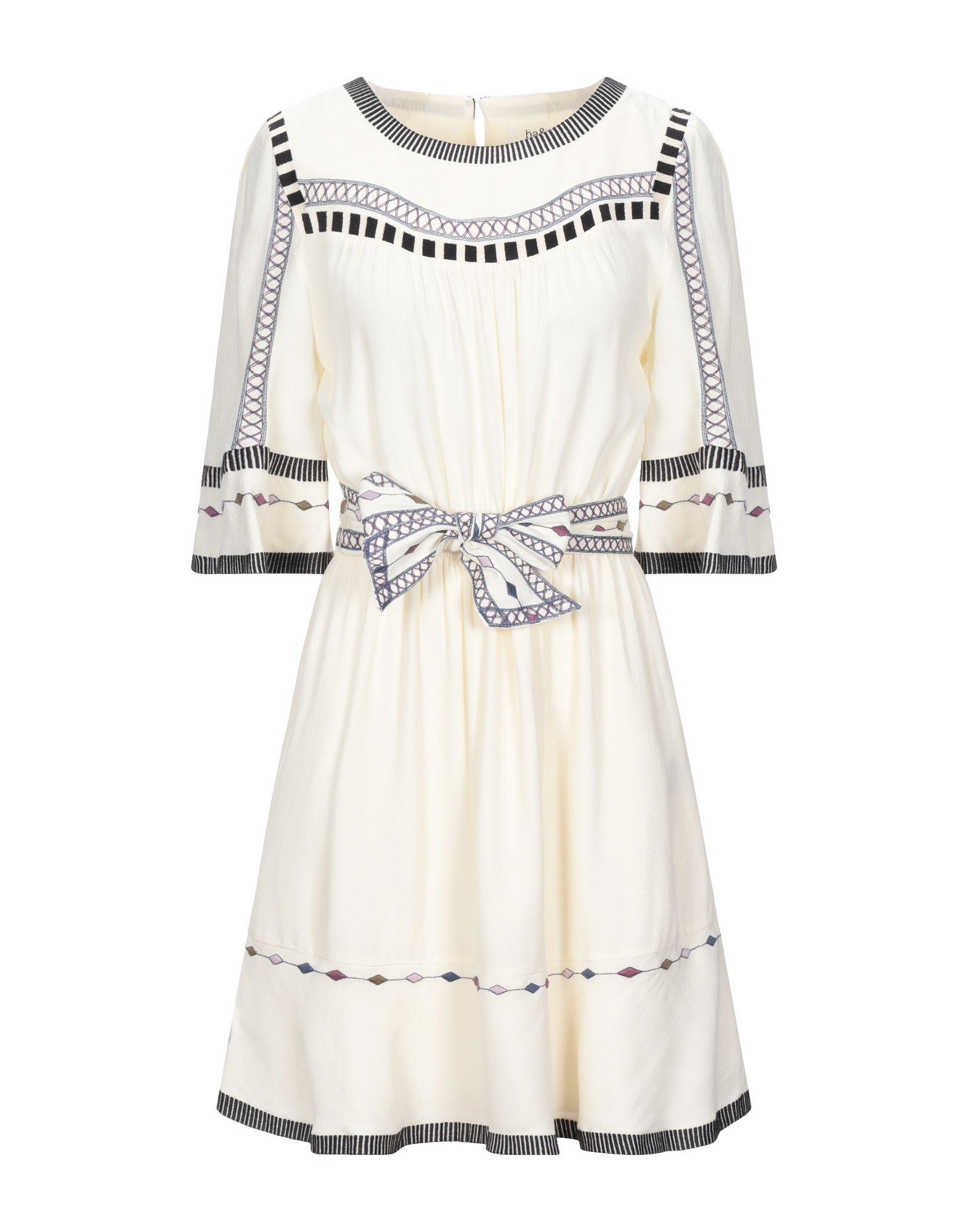 BA&SH Короткое платье платье sh moultrie цвет бордовый rna18349ve cordovan размер xs 40