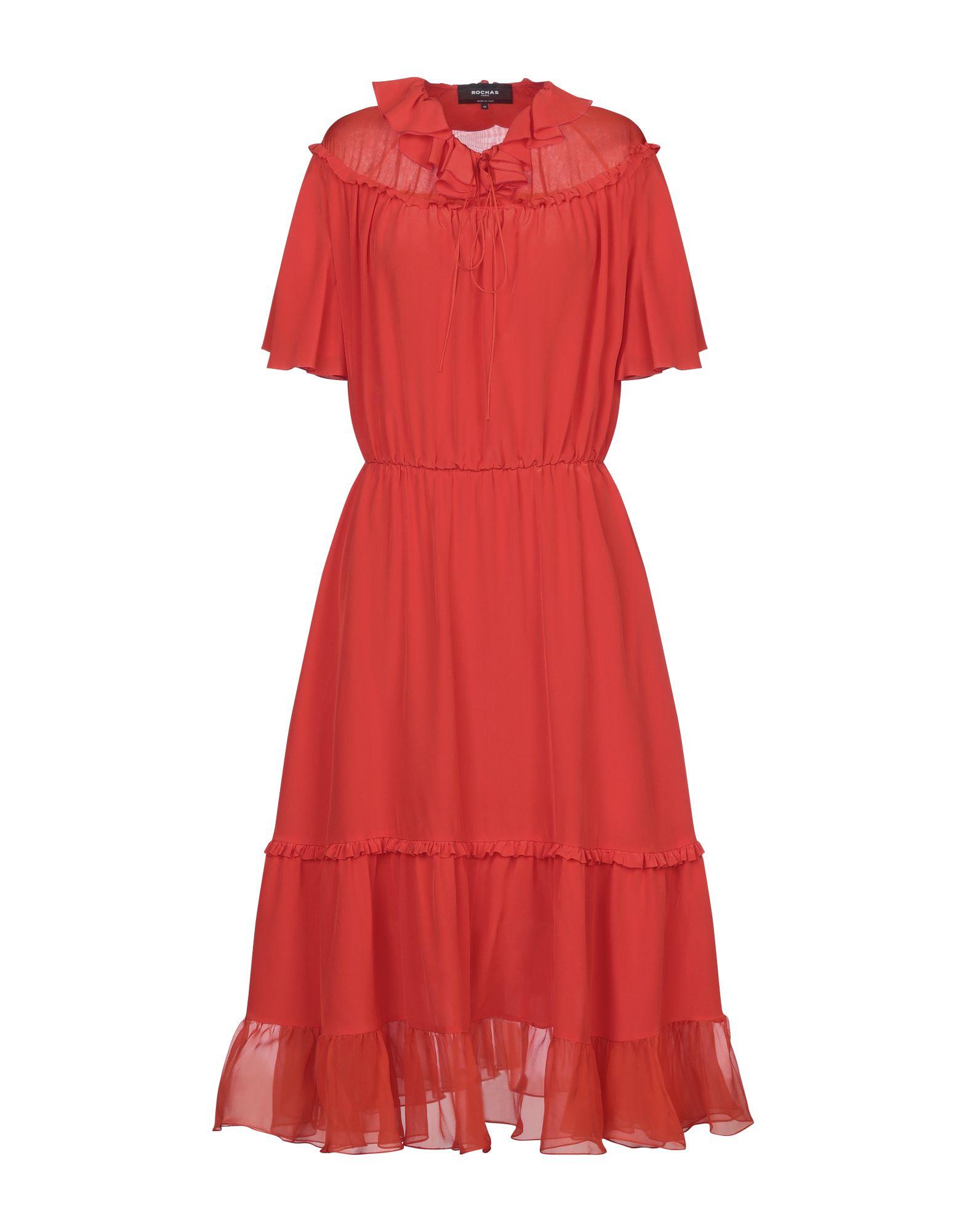ROCHAS Платье длиной 3/4 rochas шерстяное платье
