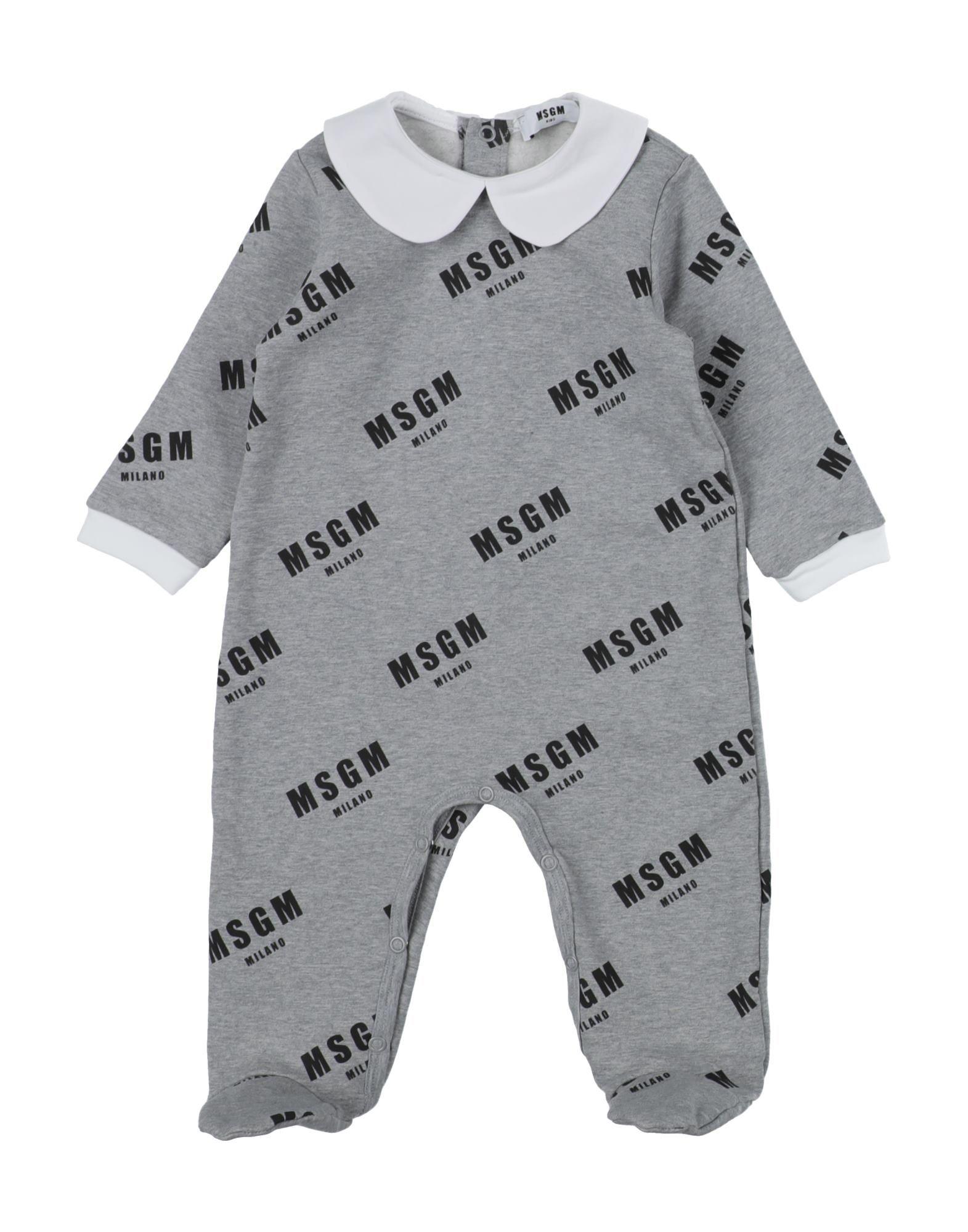 YOOX.COM(ユークス)《セール開催中》MSGM ボーイズ 0-24 ヶ月 乳幼児用ロンパース グレー 9 コットン 94% / ポリウレタン 6%