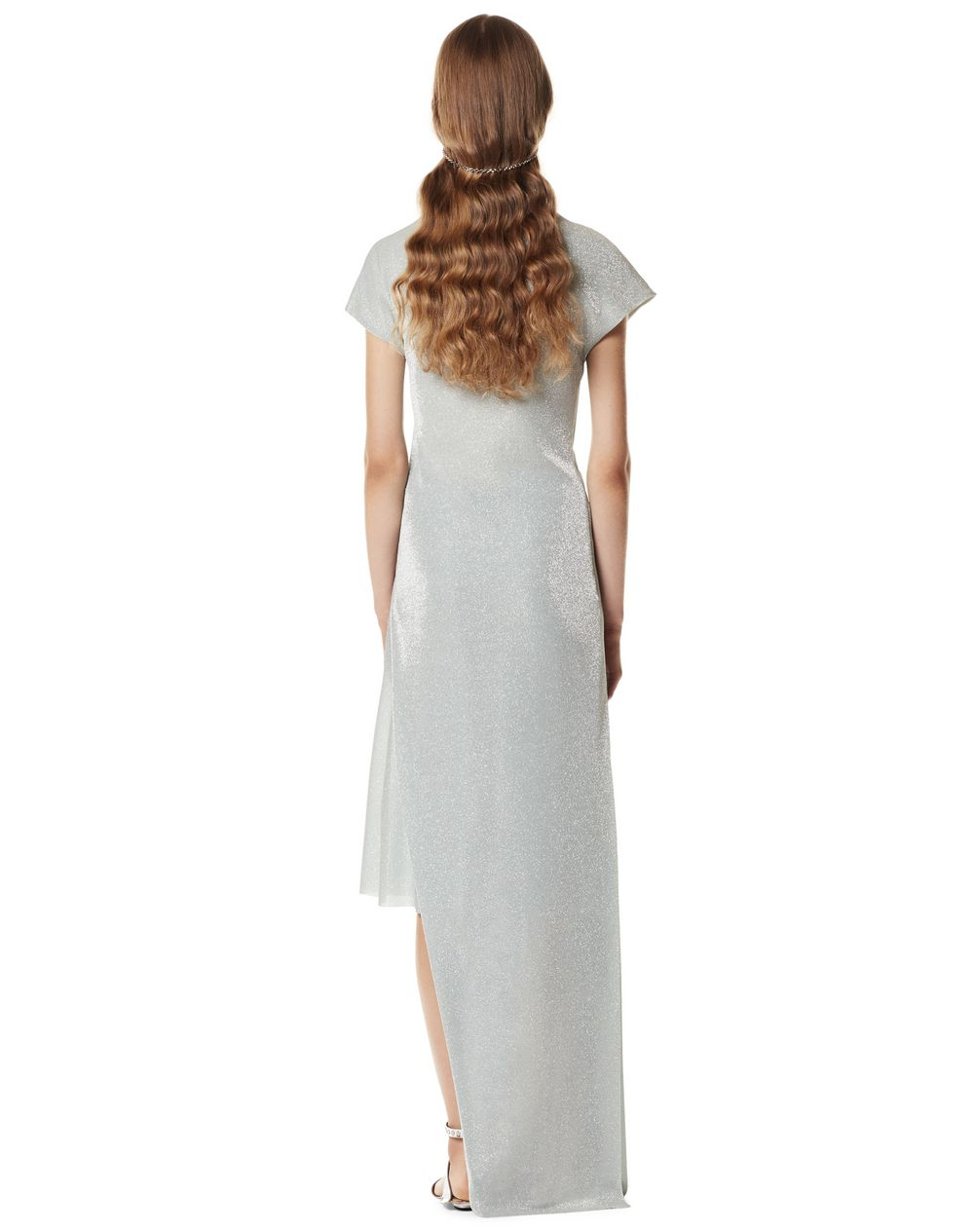 LONG DRAPED DRESS WITH ARPEGE BEADS - Lanvin