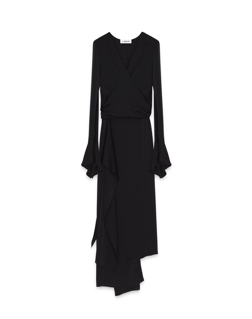 ASYMMETRIC LONG WRAP-OVER DRESS - Lanvin