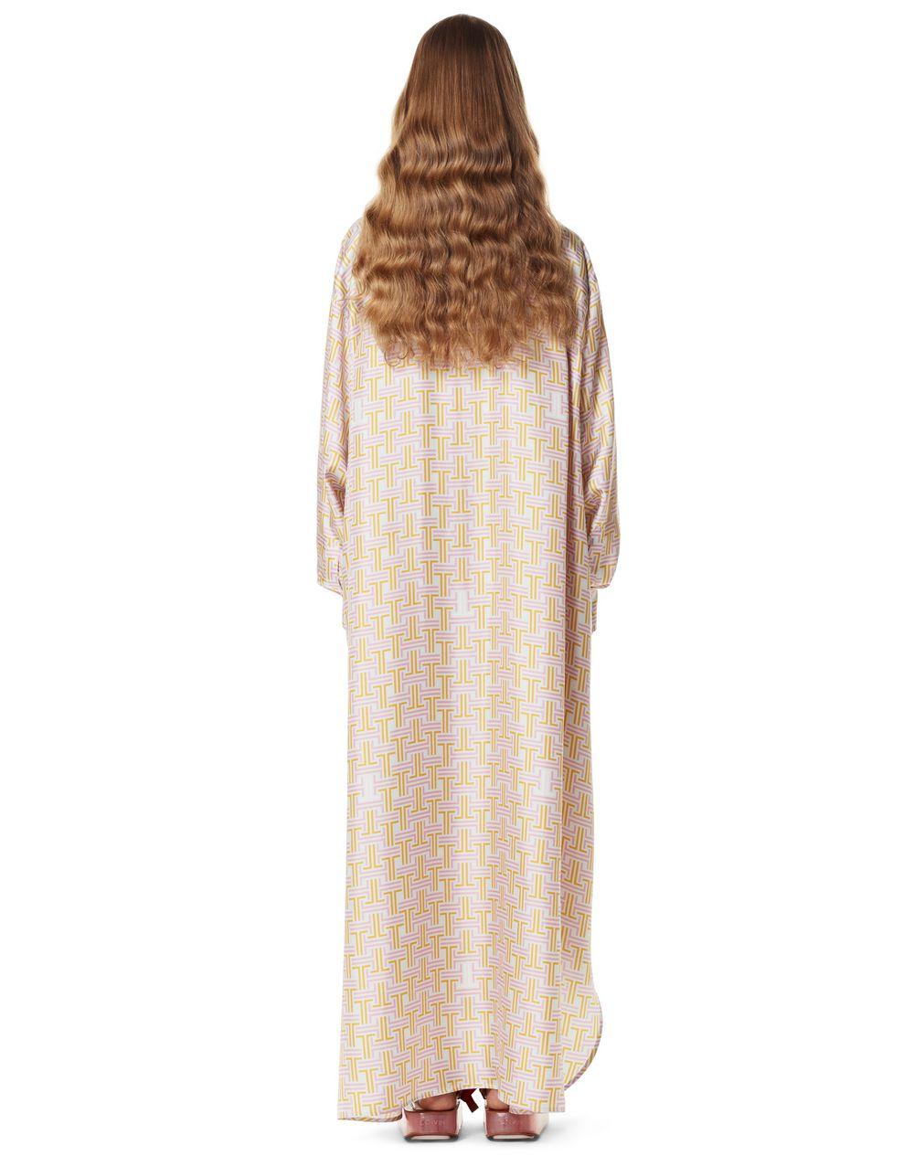 THE MAZE PRINT LONG SHIRT DRESS - Lanvin