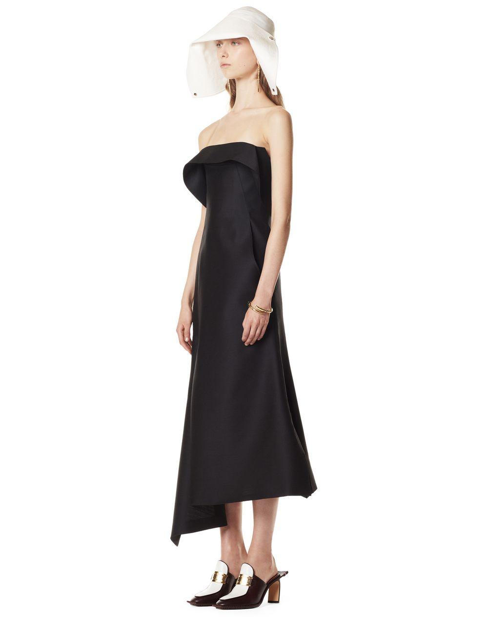 ASYMMETRIC WOOL AND SILK BUSTIER DRESS - Lanvin