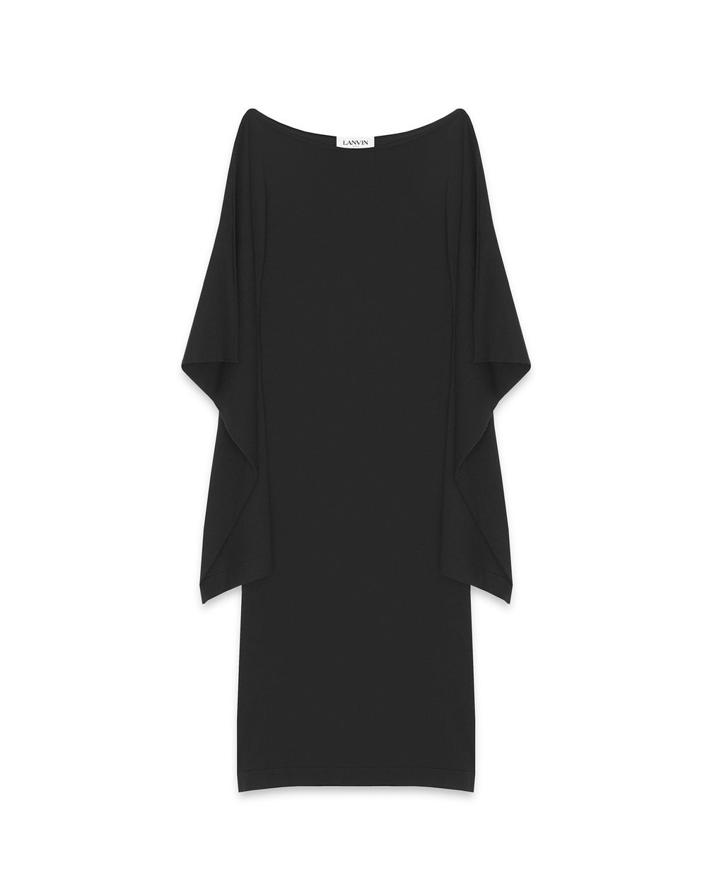 KNIT SHEATH DRESS WITH ASYMMETRIC SLEEVES - Lanvin