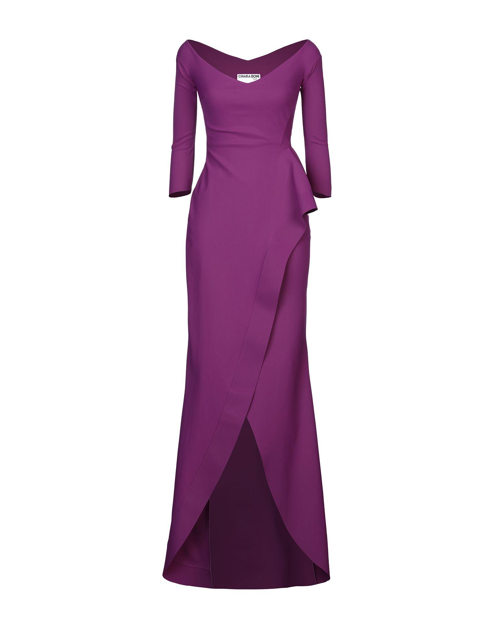 《セール開催中》CHIARA BONI LA PETITE ROBE レディース ロングワンピース&ドレス ライトパープル 40 ナイロン 72% / ポリウレタン 28%