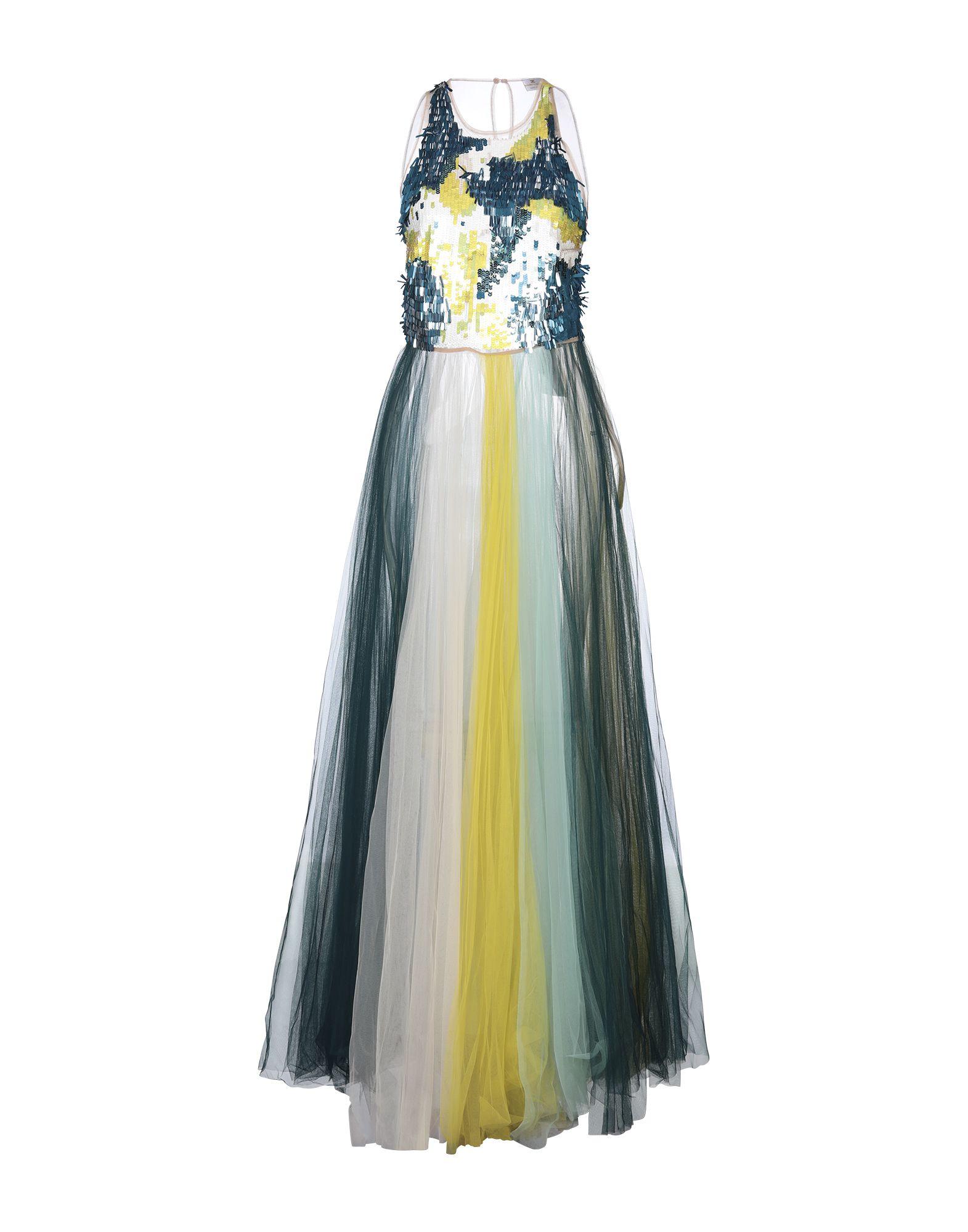 《セール開催中》ELISABETTA FRANCHI レディース ロングワンピース&ドレス ディープジェード 42 ナイロン 100% / プラスティック