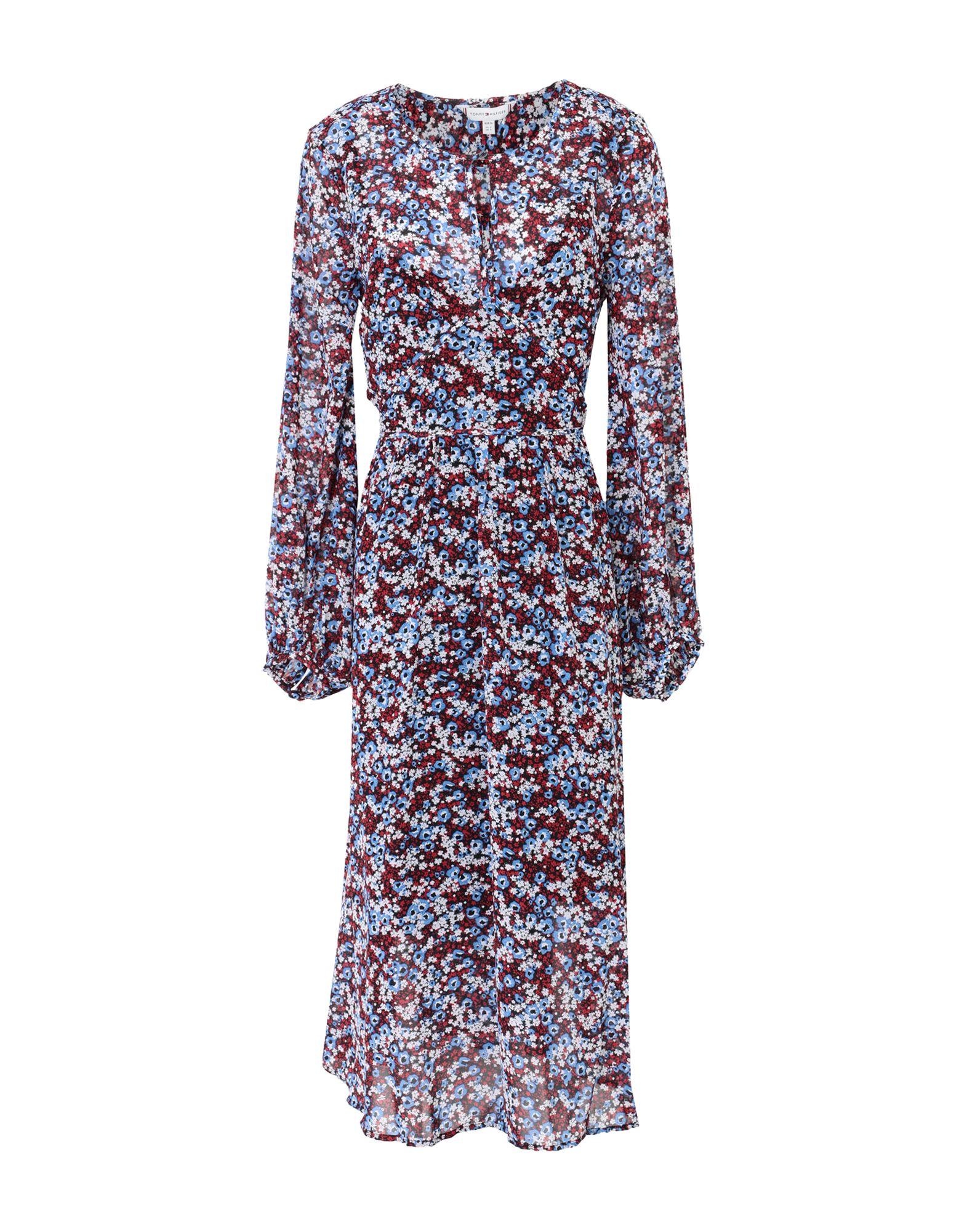 TOMMY HILFIGER Платье длиной 3/4 платье с круглой горловиной на завязках tommy hilfiger