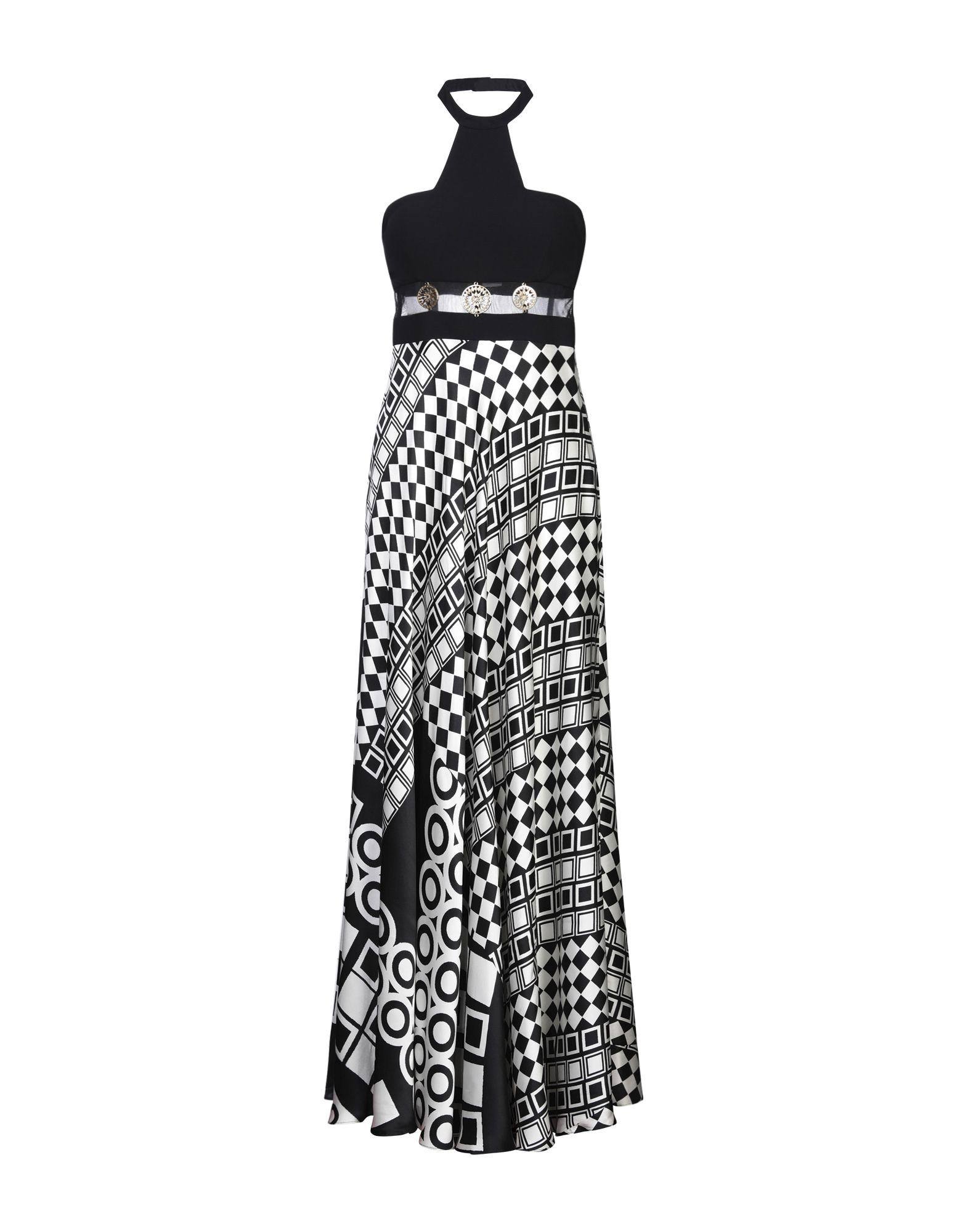 《セール開催中》MAESTRI レディース ロングワンピース&ドレス ブラック 10 シルク 100%
