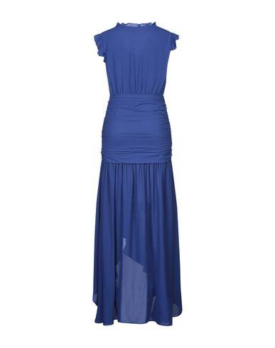 Фото 2 - Женское длинное платье KORALLINE синего цвета