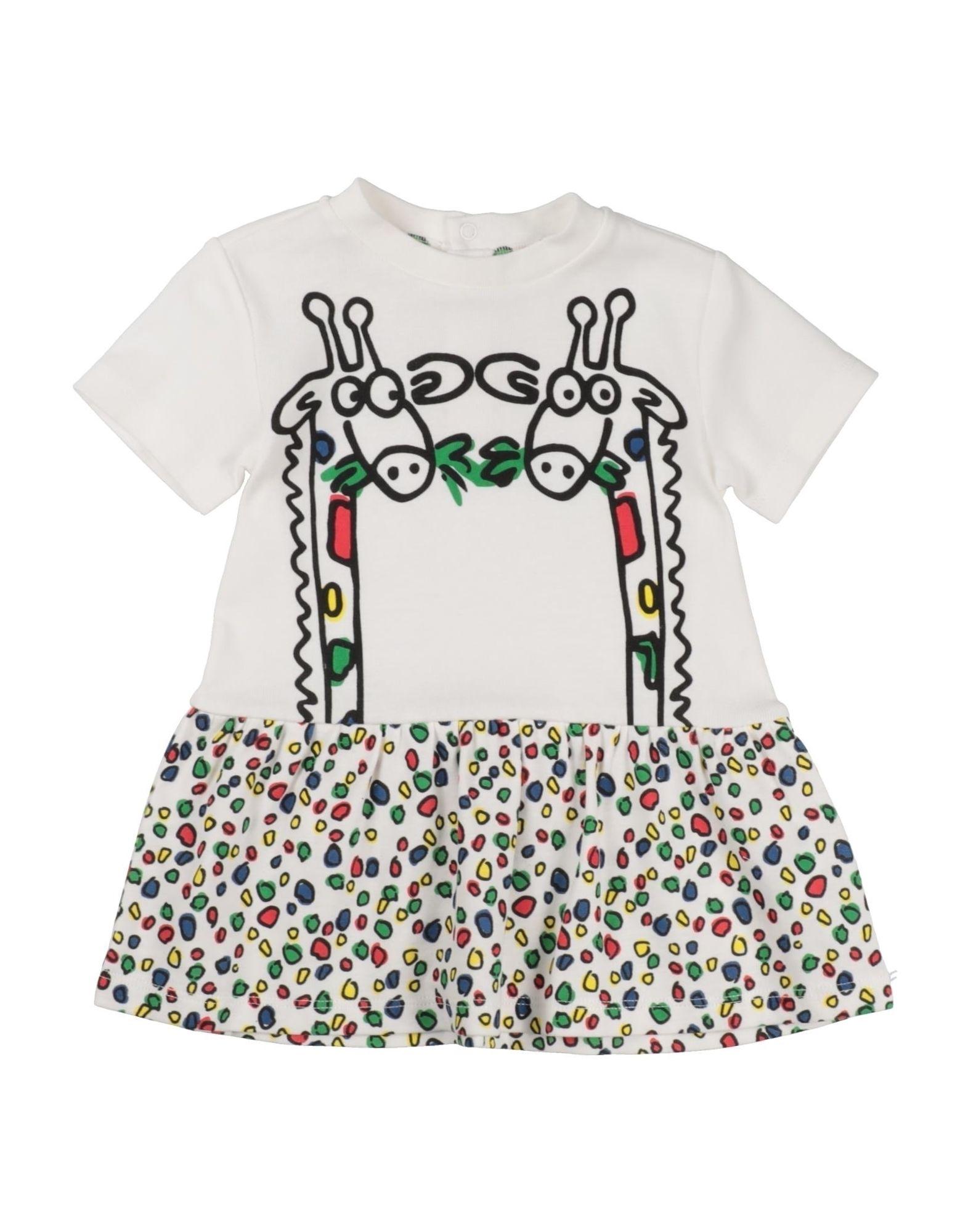 《セール開催中》STELLA McCARTNEY KIDS ガールズ 0-24 ヶ月 ワンピース・ドレス ホワイト 9 コットン 100%