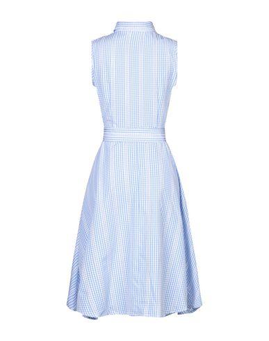 Фото 2 - Платье до колена от CUBIC лазурного цвета
