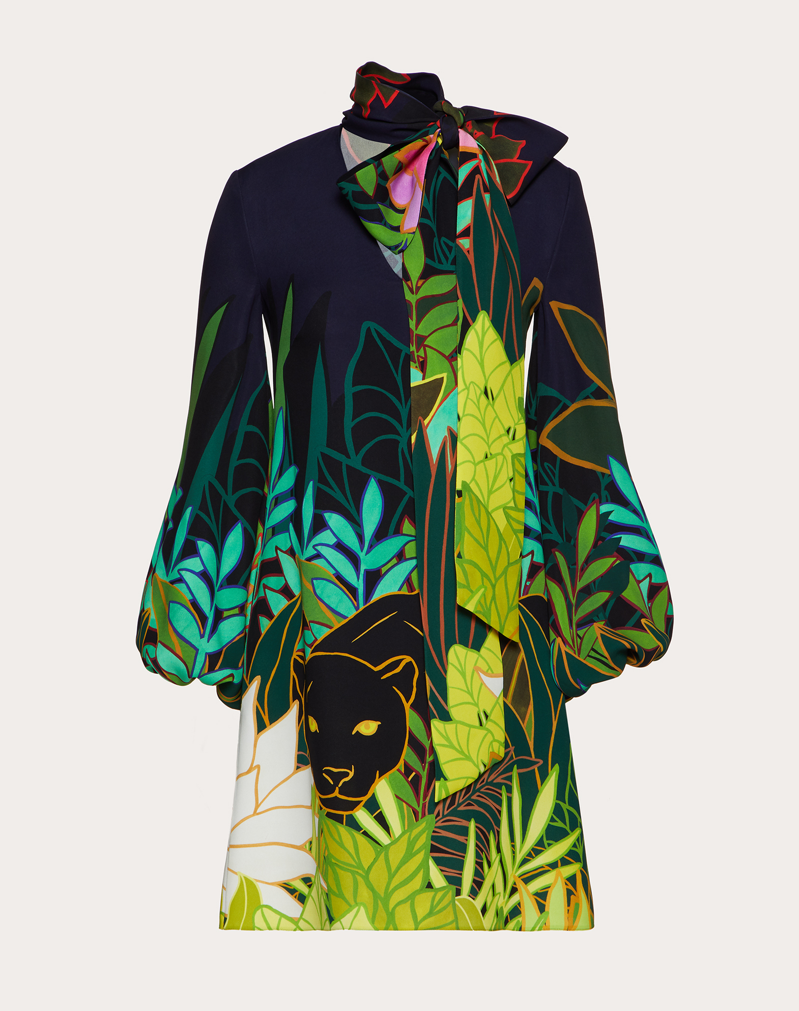 Short Printed Cady Dress