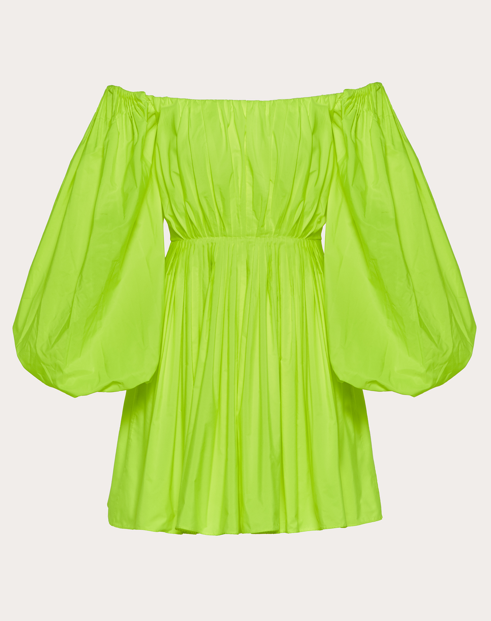 Short Dress in Pop Taffeta