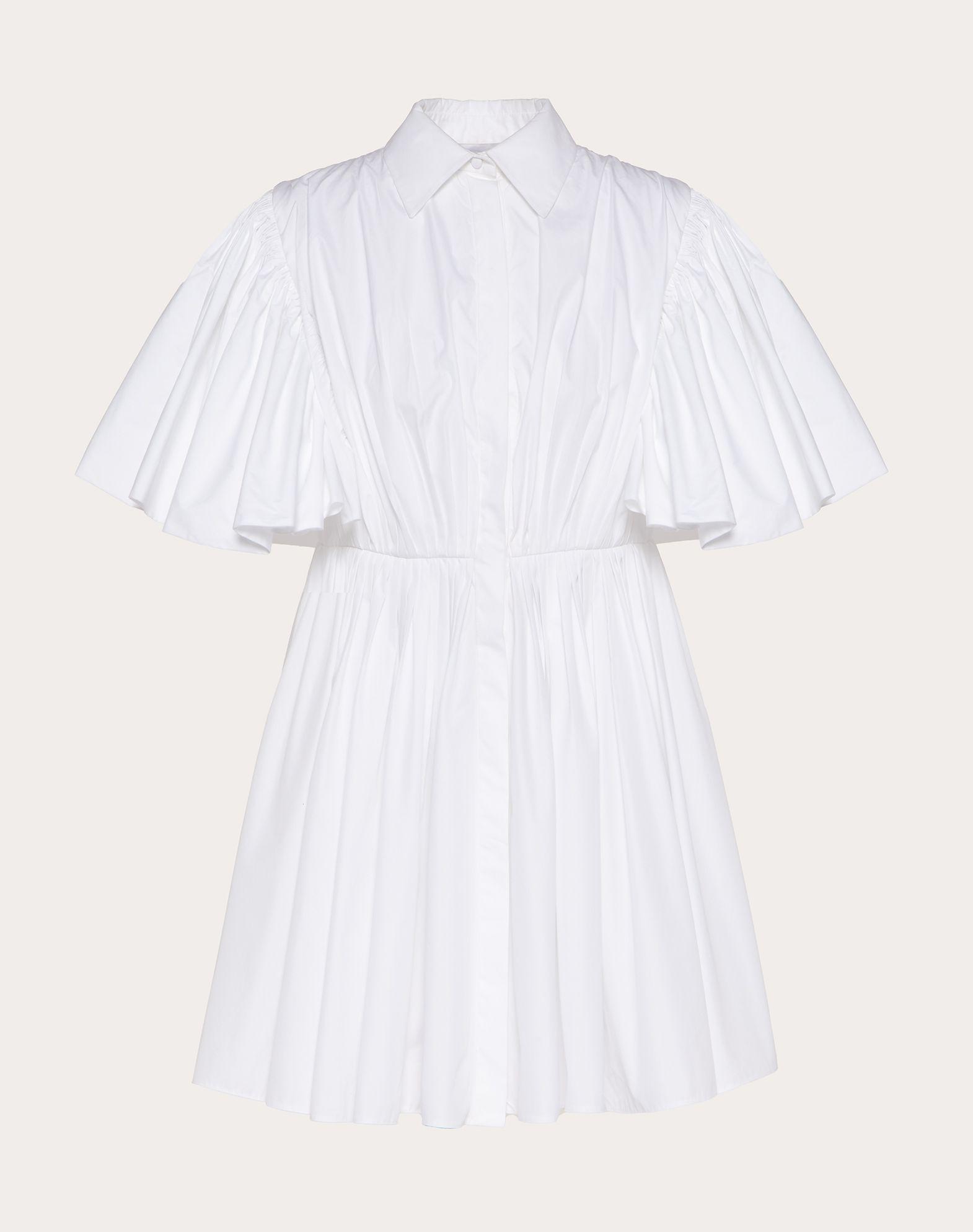 Short dress in Technical Poplin
