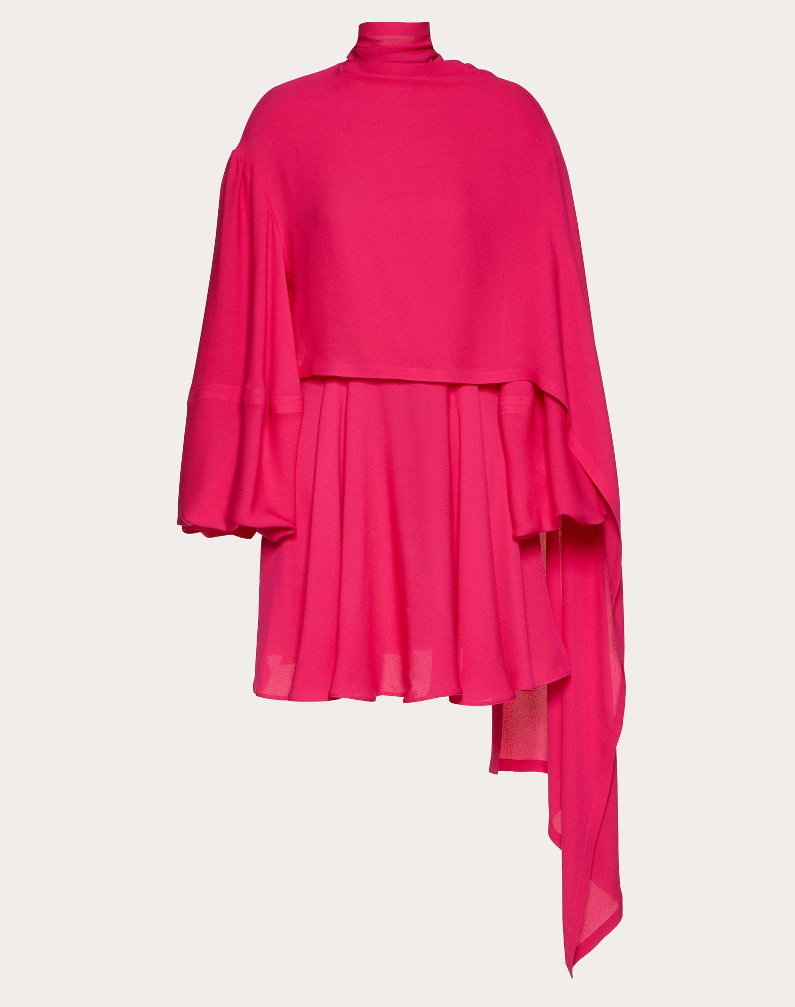 Robe courte en georgette