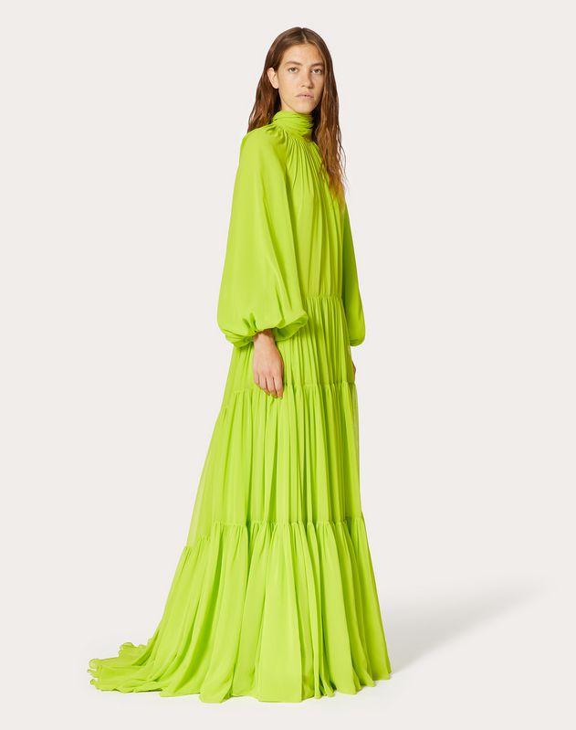 Technical Georgette Evening Dress