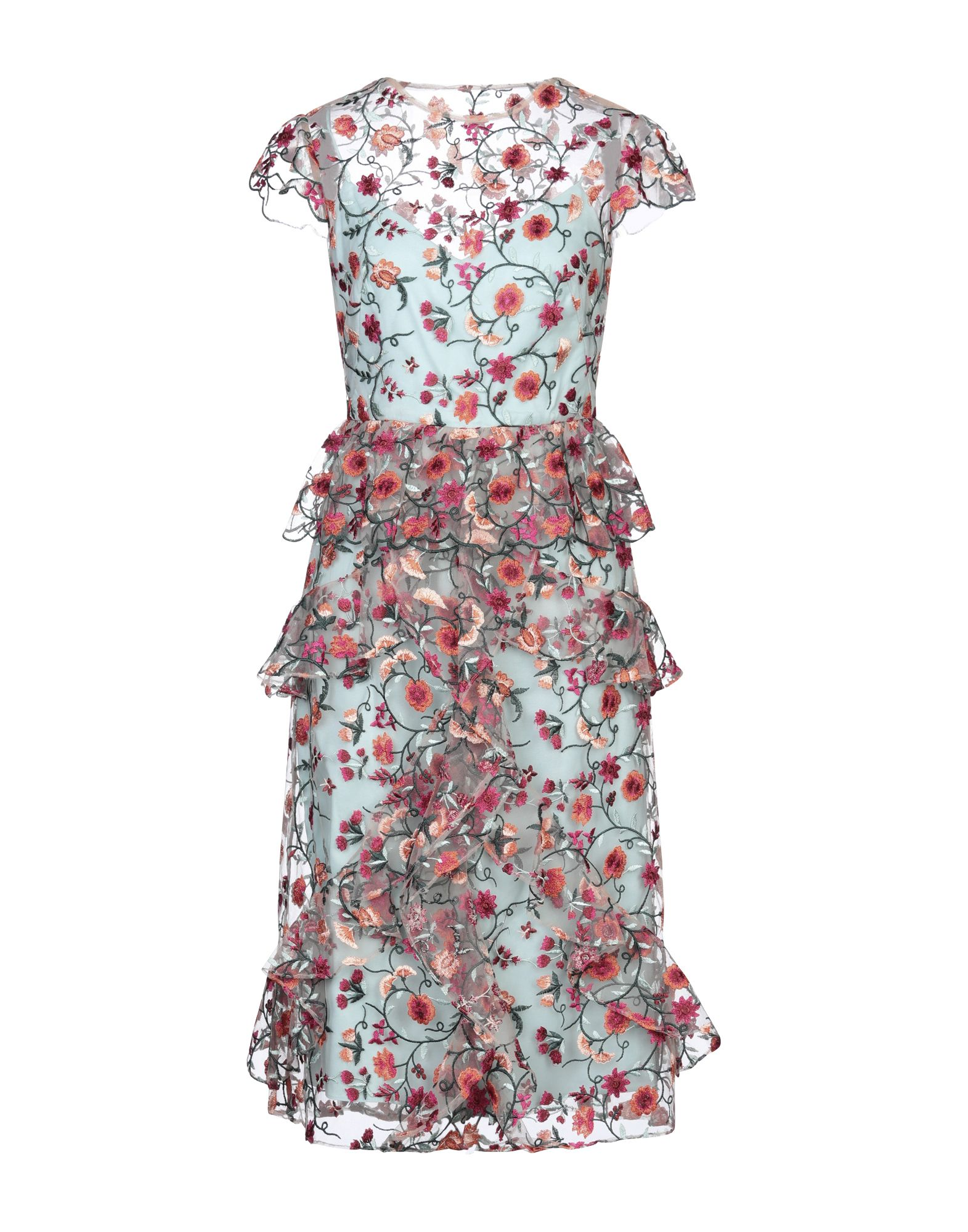MONIQUE LHUILLIER Платье до колена monique lhuillier короткое платье