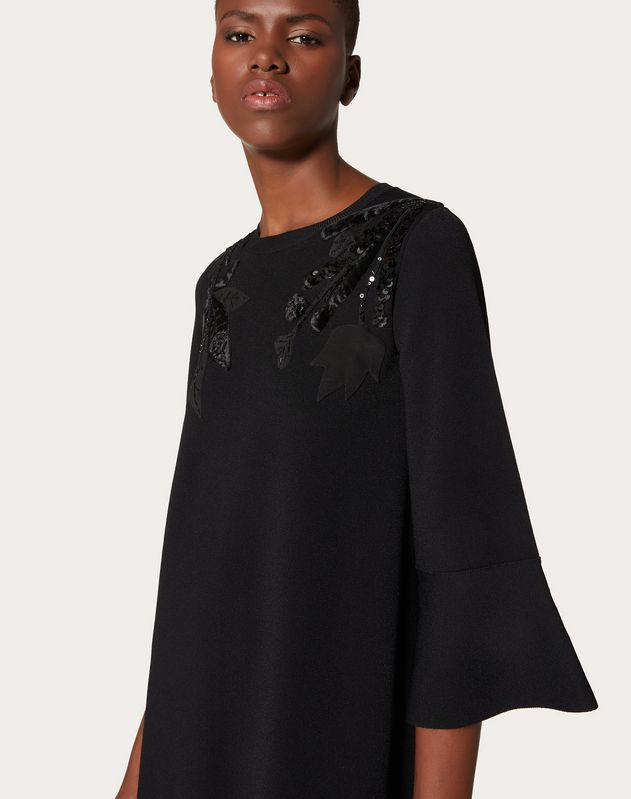 Embroidered Stretch Viscose Dress
