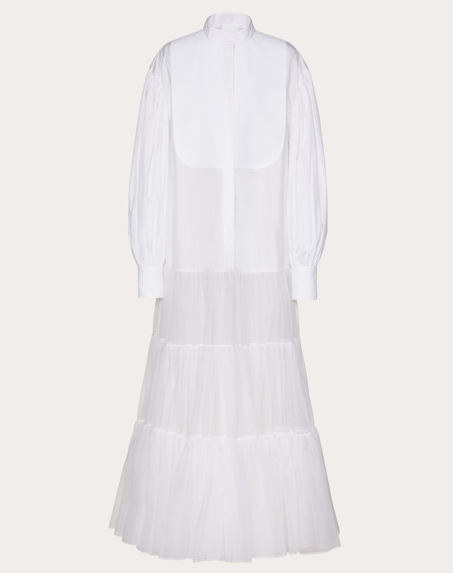 Technical Poplin and Organza Dress