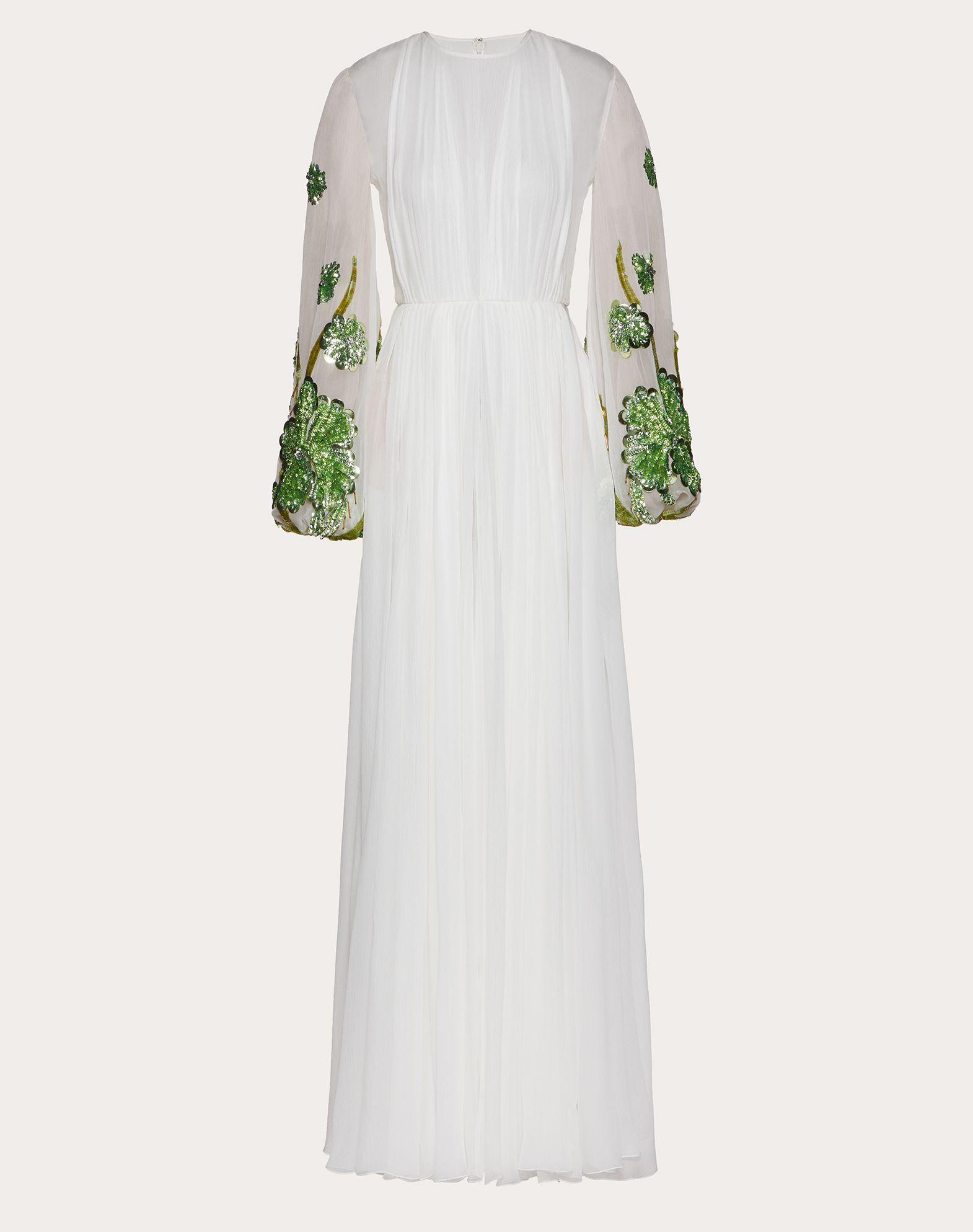 Chiffon Creponne Evening Dress