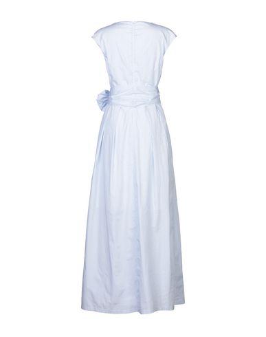 Фото 2 - Женское длинное платье GIORGIO GRATI небесно-голубого цвета