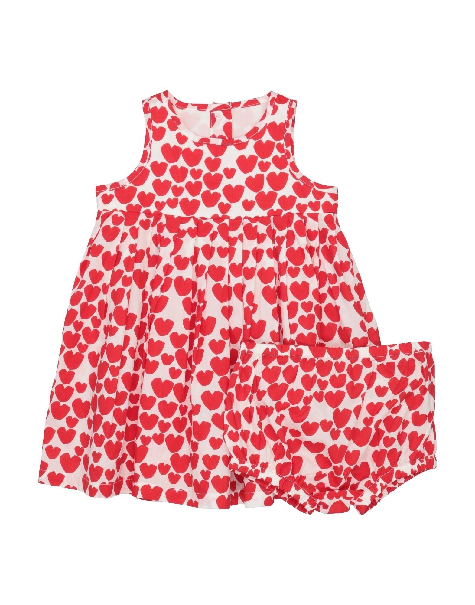 《セール開催中》STELLA McCARTNEY KIDS ガールズ 0-24 ヶ月 ワンピース・ドレス レッド 12 コットン 100%