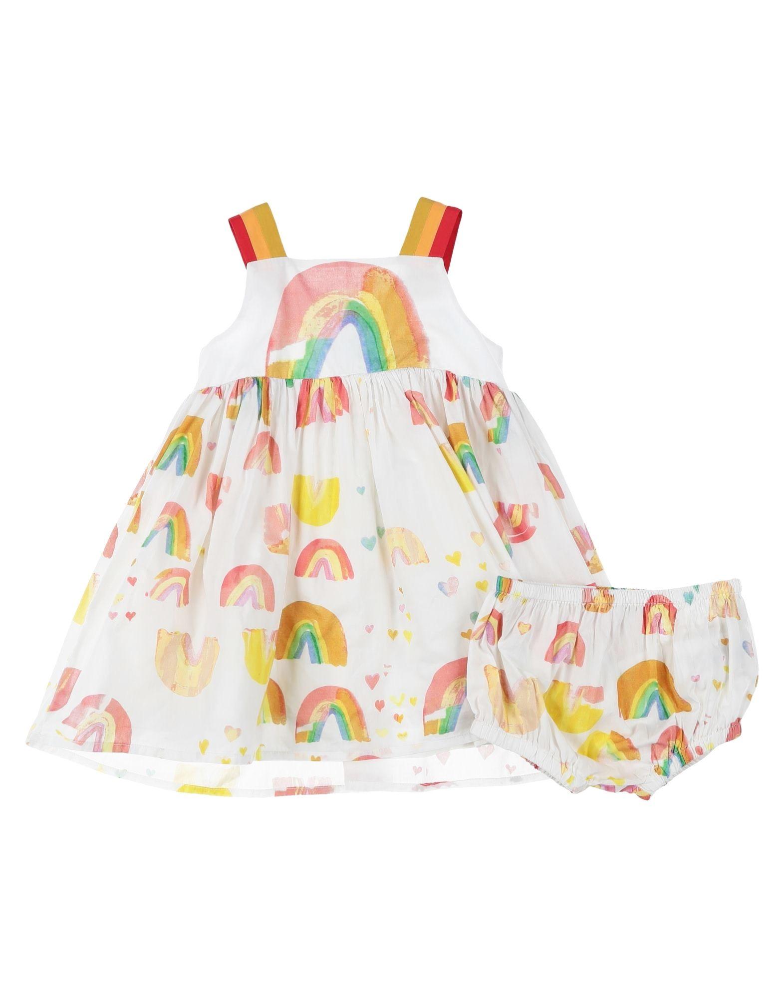 《セール開催中》STELLA McCARTNEY KIDS ガールズ 0-24 ヶ月 ワンピース・ドレス ホワイト 3 コットン 100%