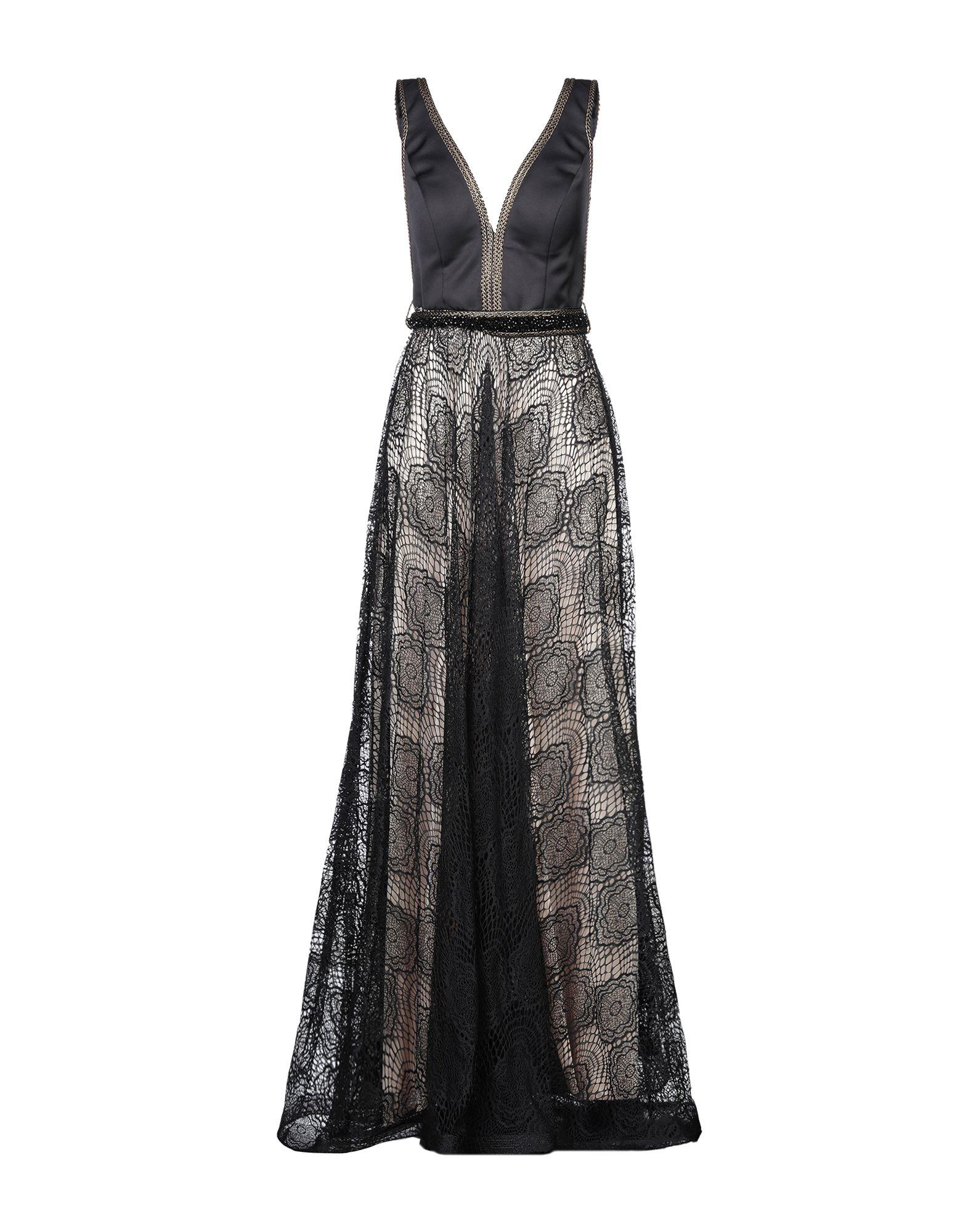 《セール開催中》MAESTRI レディース ロングワンピース&ドレス ブラック 8 ポリエステル 100%