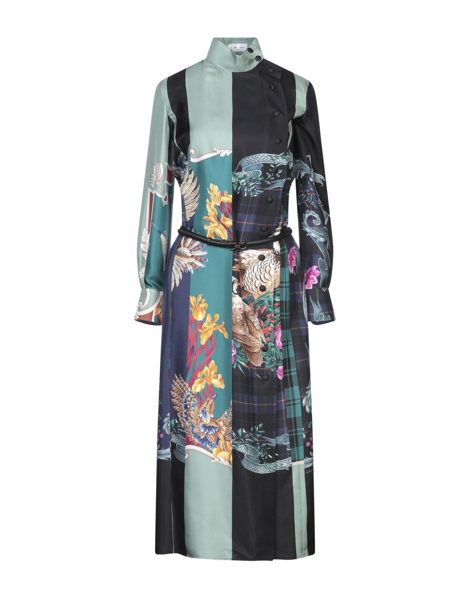 SALVATORE FERRAGAMO Платье длиной 3/4 ремень ferragamo 679219 608637