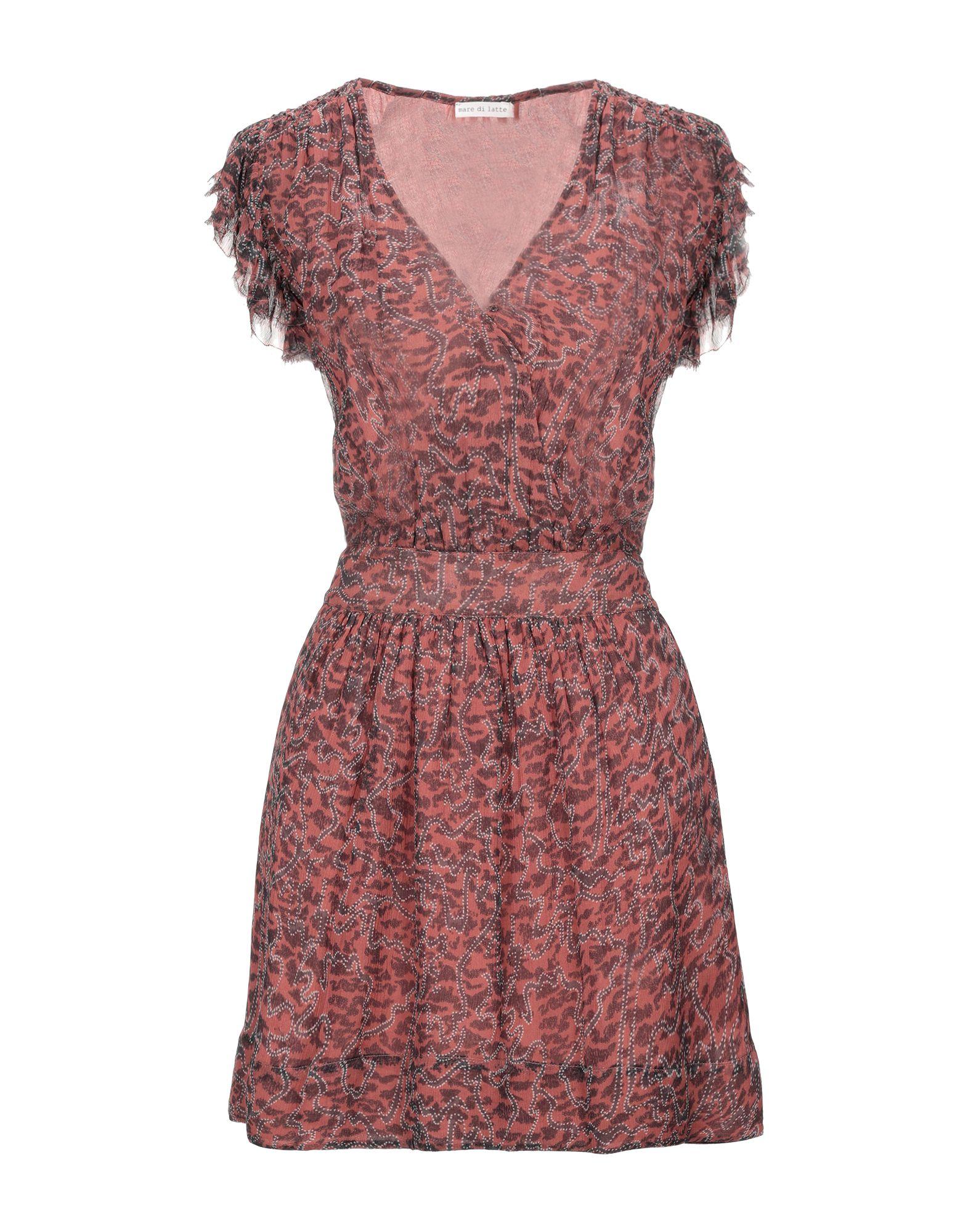 цена MARE DI LATTE Короткое платье онлайн в 2017 году