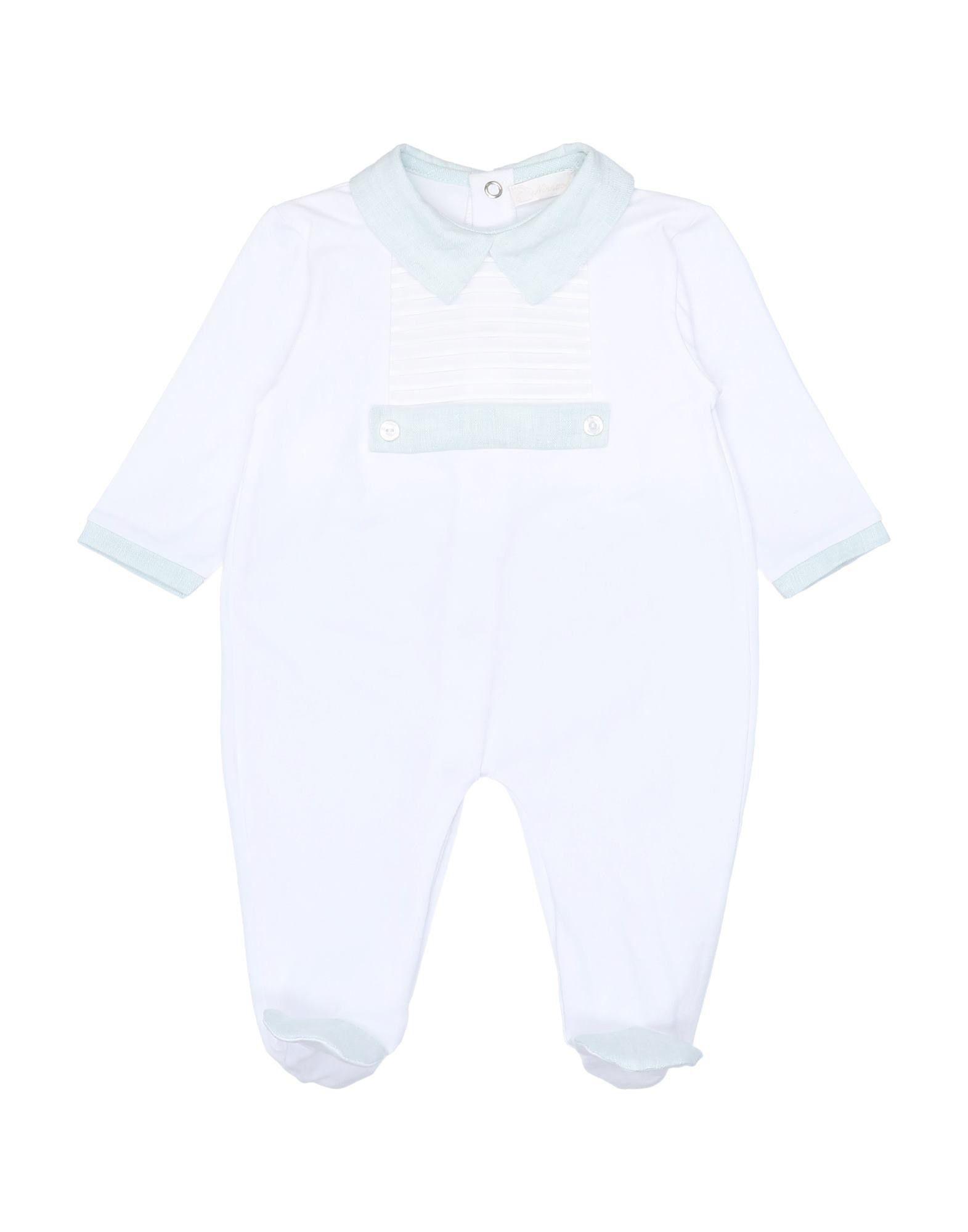 YOOX.COM(ユークス)《セール開催中》NINNAOH ボーイズ 0-24 ヶ月 乳幼児用ロンパース ホワイト 3 コットン 96% / ポリウレタン 4%