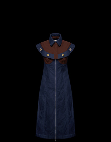 DRESS Dark blue 2 Moncler 1952 Woman