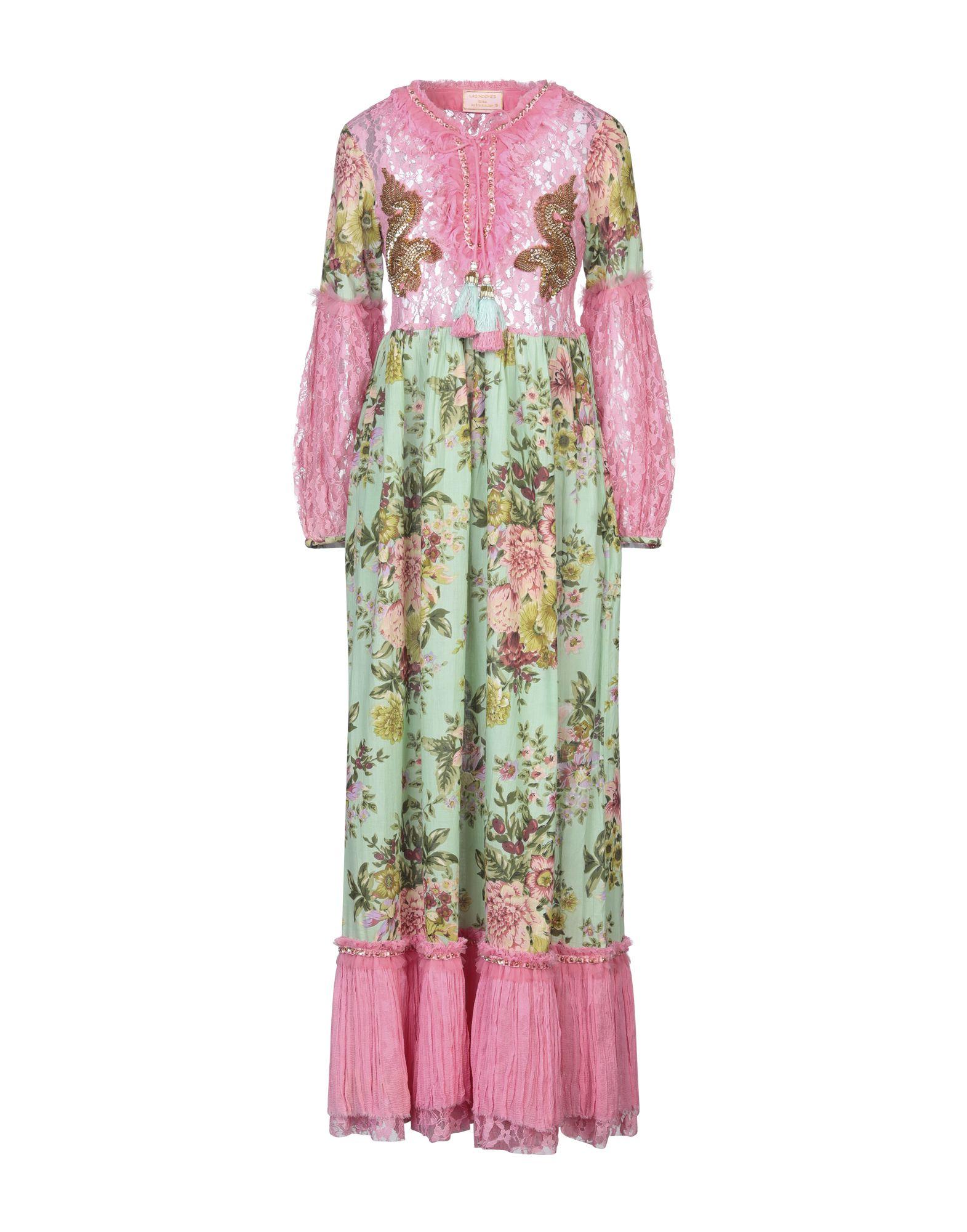 《セール開催中》LAS NOCHES IBIZA by ERIC & JACK レディース ロングワンピース&ドレス ピンク M コットン 100%