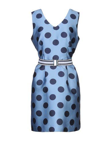 Фото - Женское короткое платье  пастельно-синего цвета