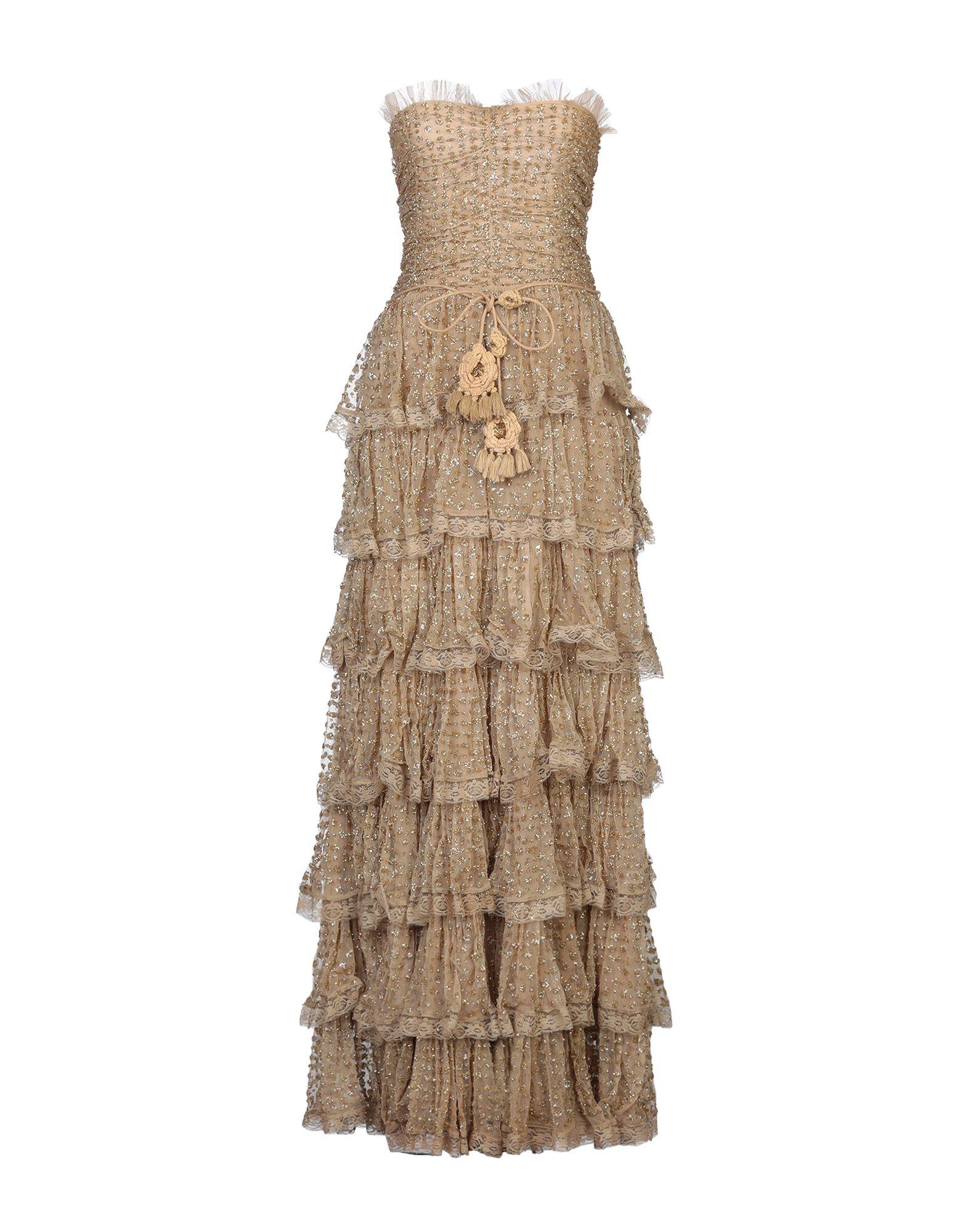 《セール開催中》LAS NOCHES IBIZA by ERIC & JACK レディース ロングワンピース&ドレス サンド S コットン 100%