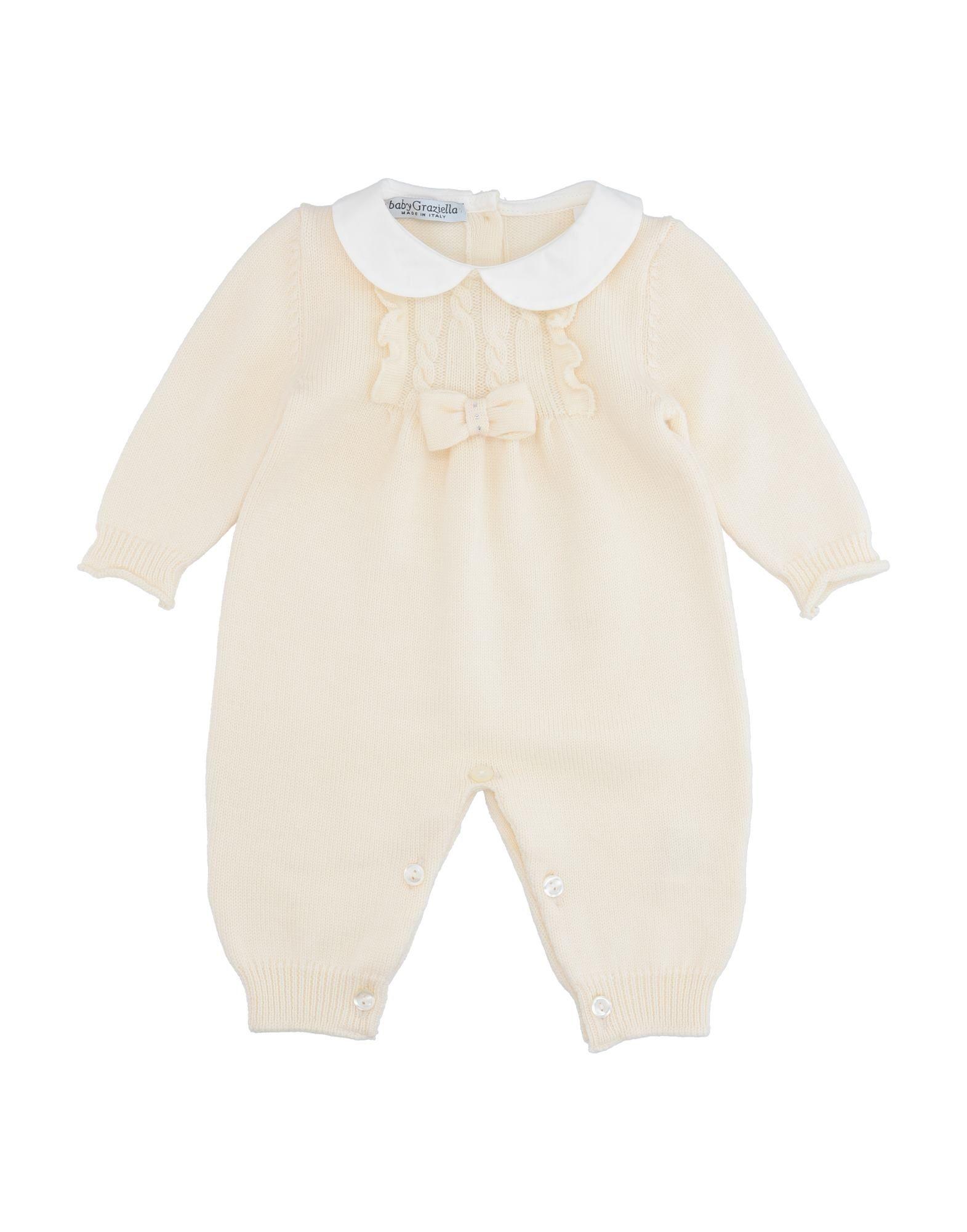 YOOX.COM(ユークス)《セール開催中》BABY GRAZIELLA ガールズ 0-24 ヶ月 乳幼児用ロンパース アイボリー 3 ウール 100%