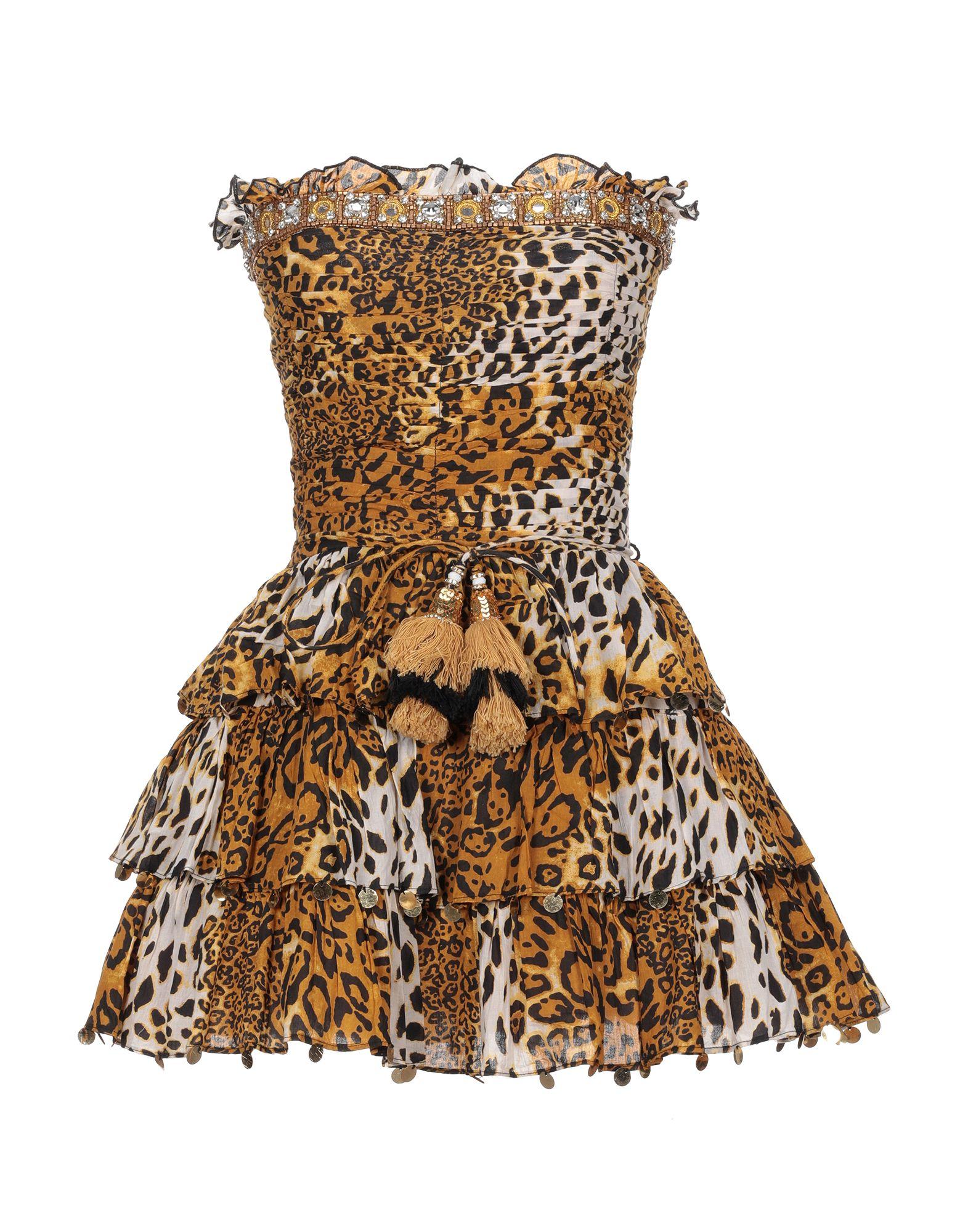 《セール開催中》LAS NOCHES IBIZA by ERIC & JACK レディース ミニワンピース&ドレス キャメル S コットン 100%